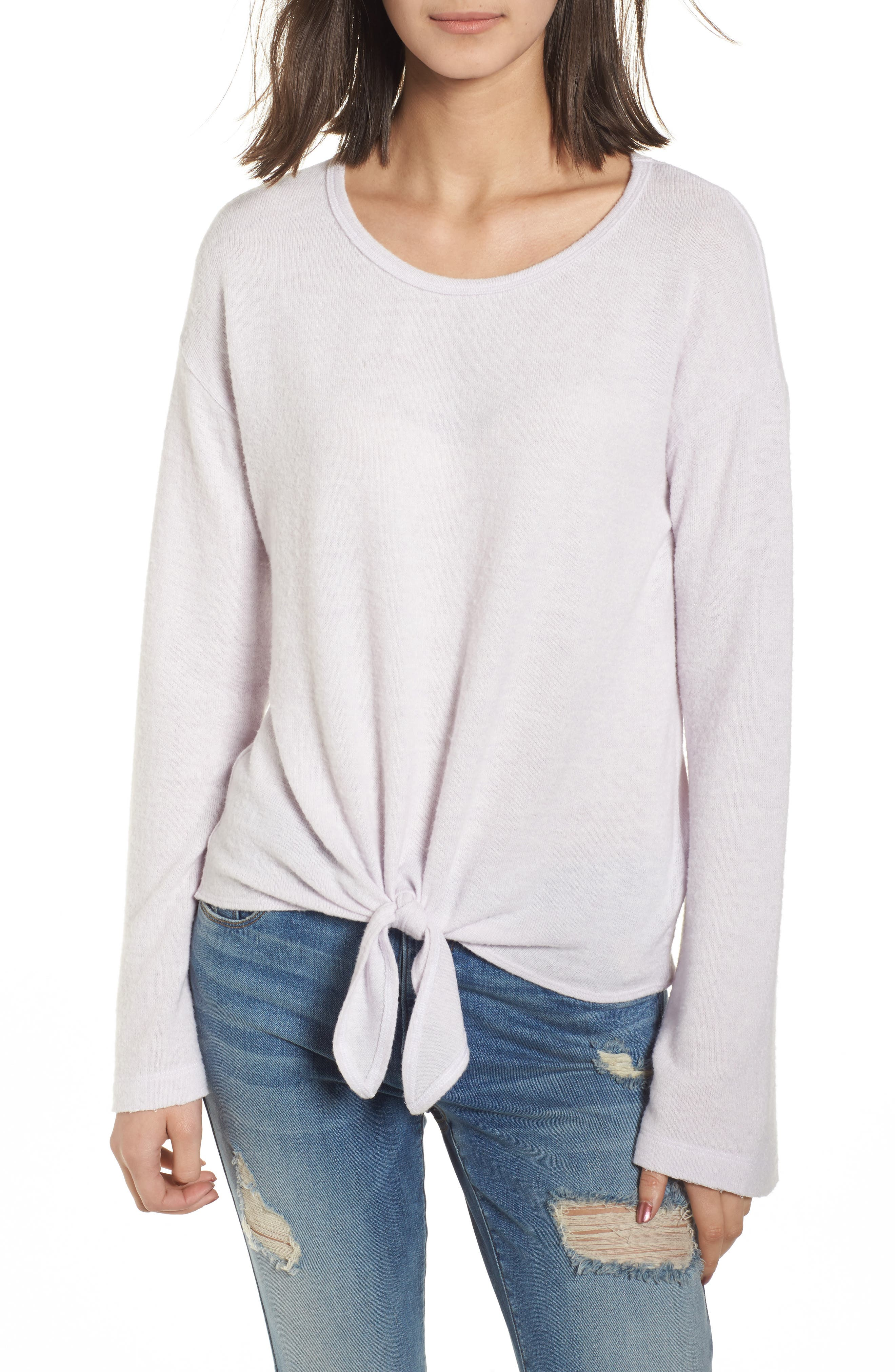 Alternate Image 1 Selected - Socialite Tie Waist Pullover