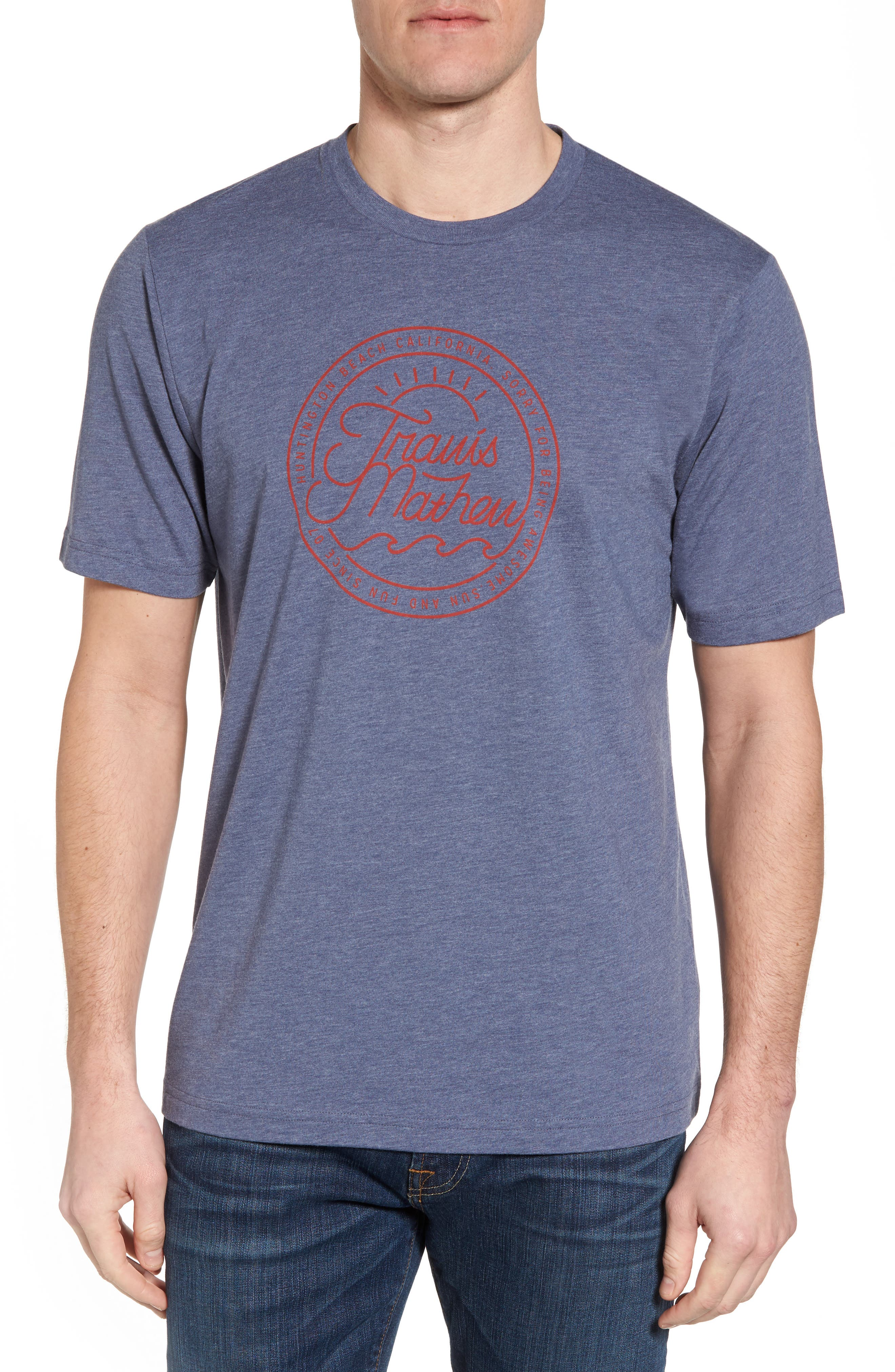 Drebo Graphic T-Shirt,                         Main,                         color, Heather Blue Nights