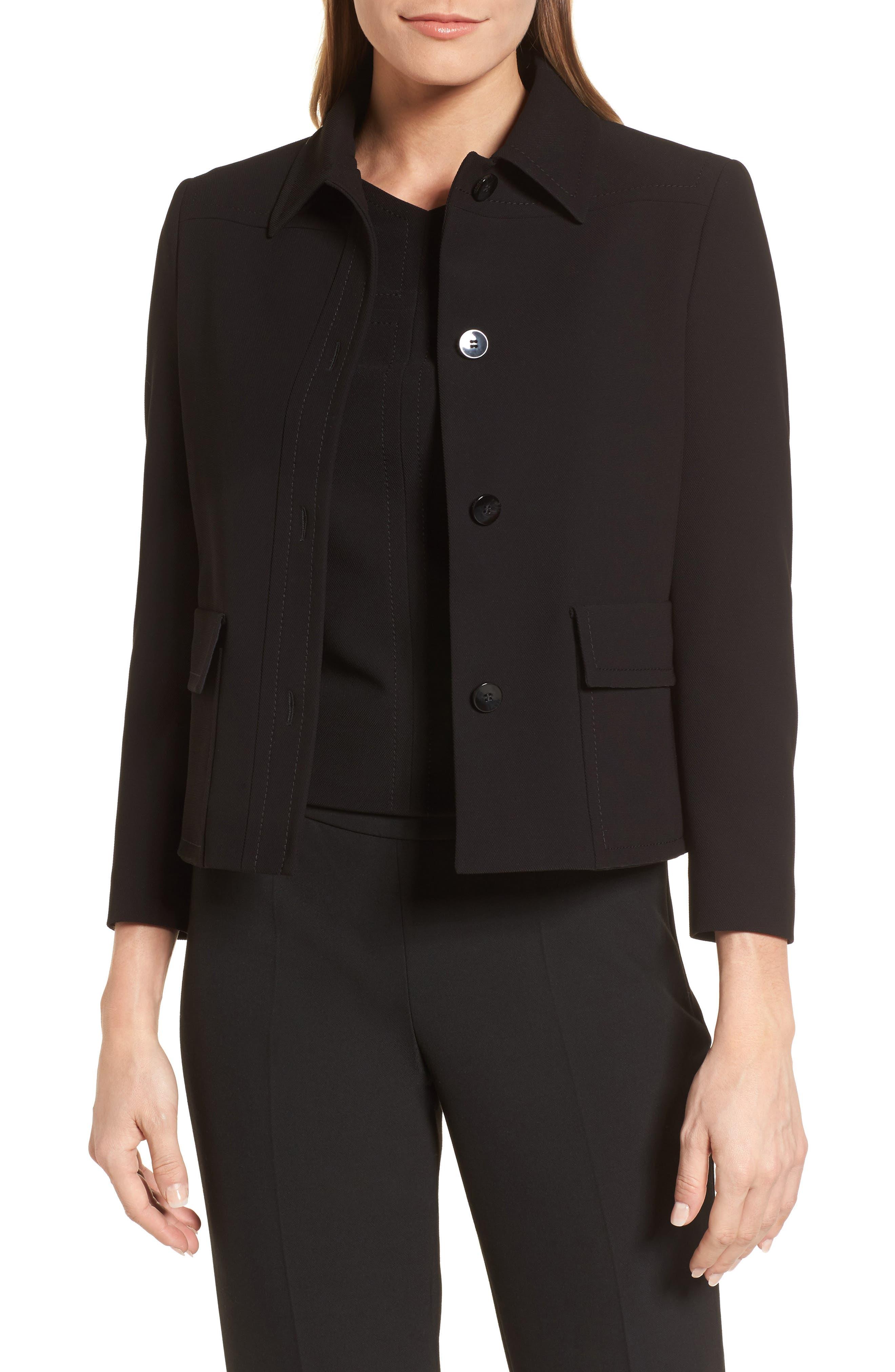 Juriona Crop Jacket,                         Main,                         color, Black