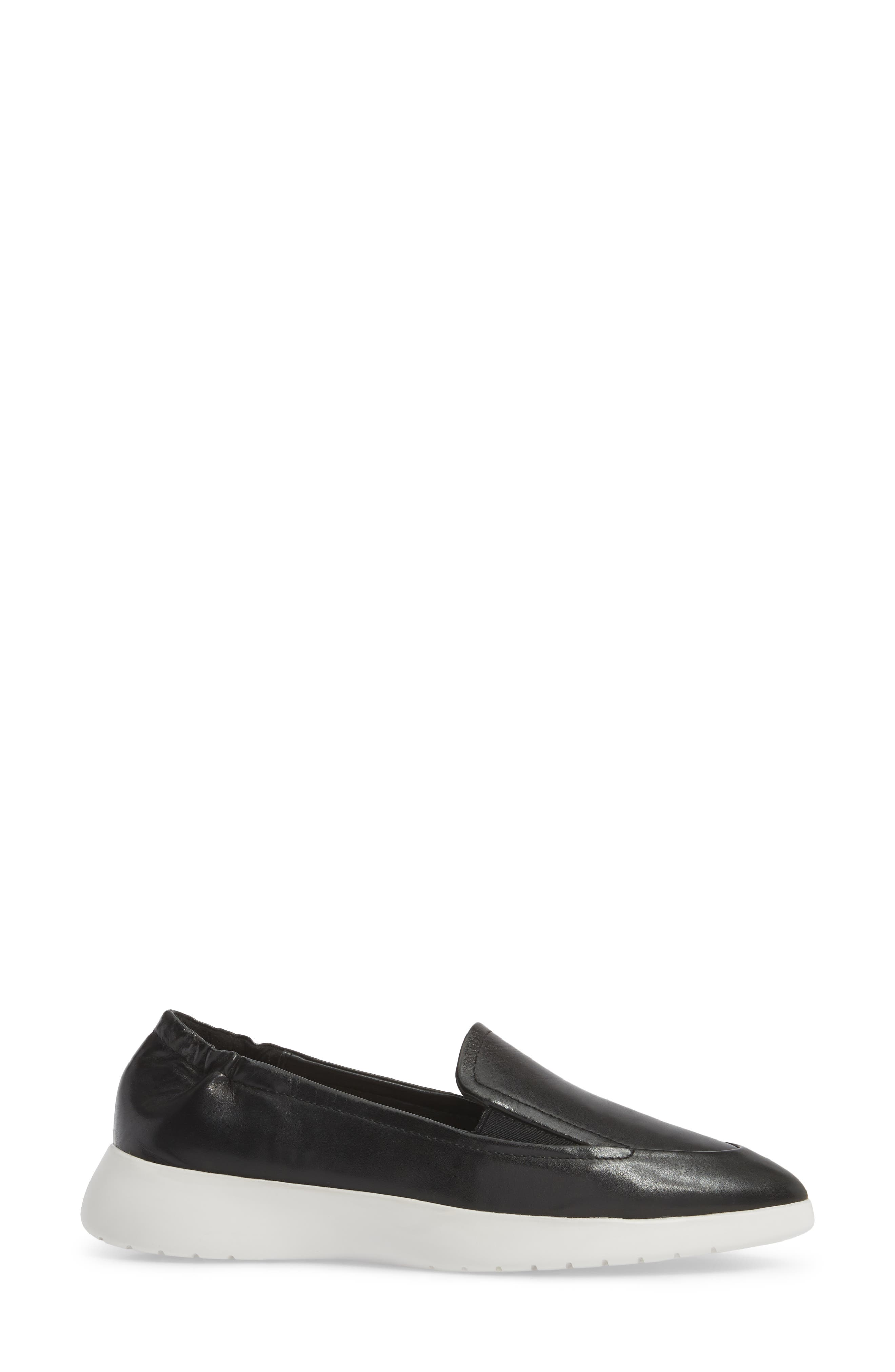 Dana Loafer Sneaker,                             Alternate thumbnail 3, color,                             Black Leather