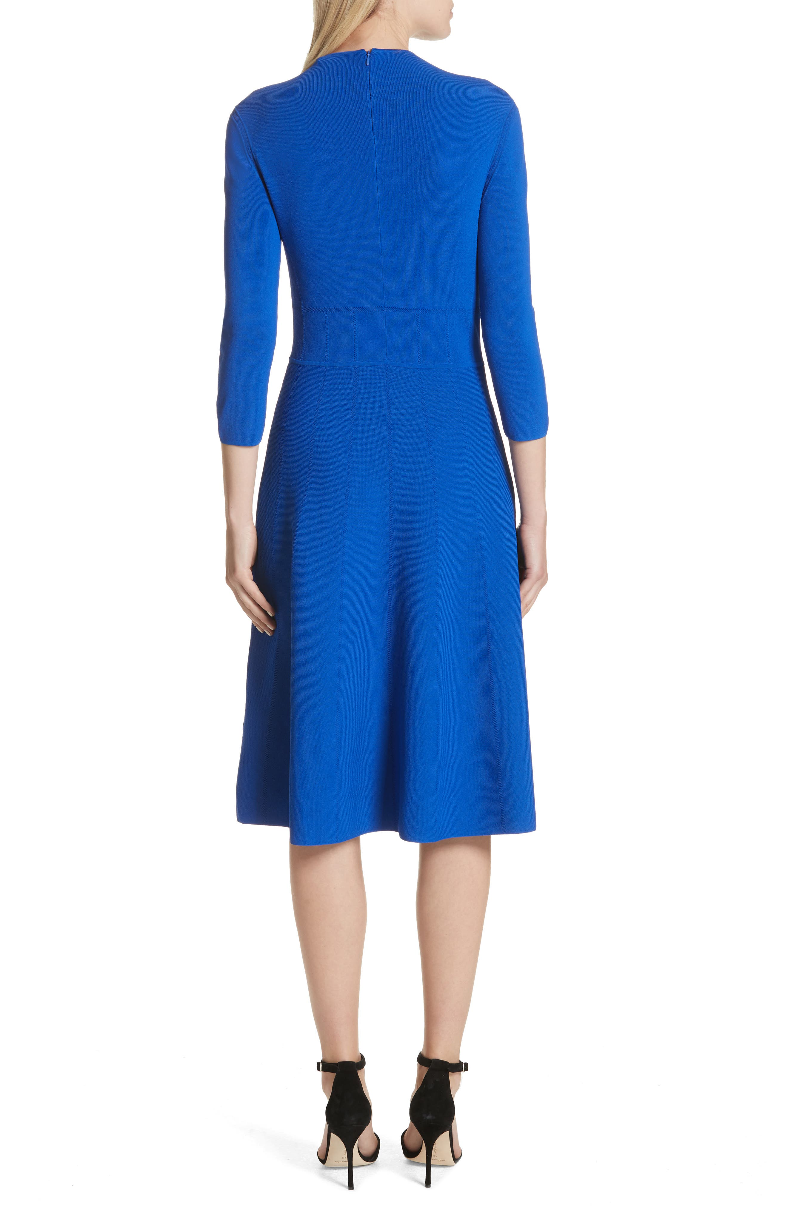 Alternate Image 2  - Emporio Armani High Neck Fit & Flare Dress