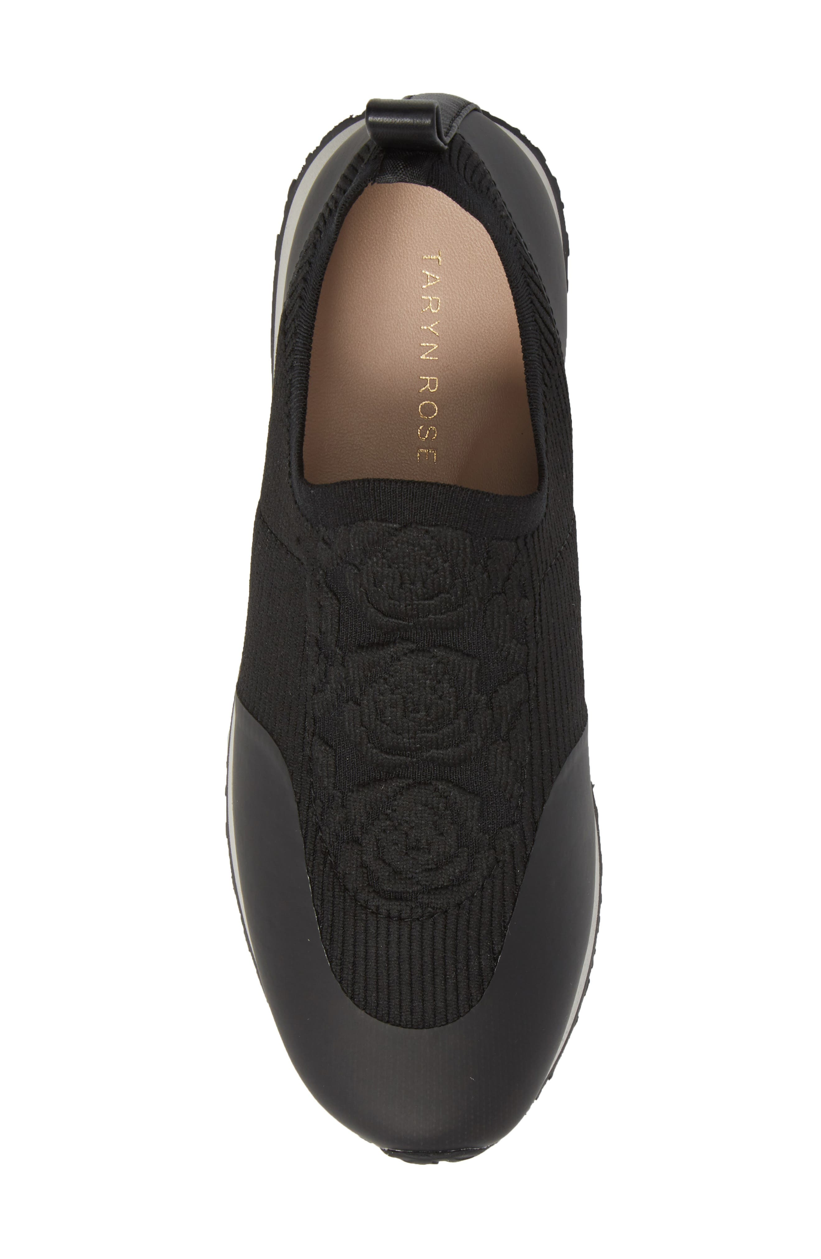 Cara Slip-On Sneaker,                             Alternate thumbnail 5, color,                             Black Fabric