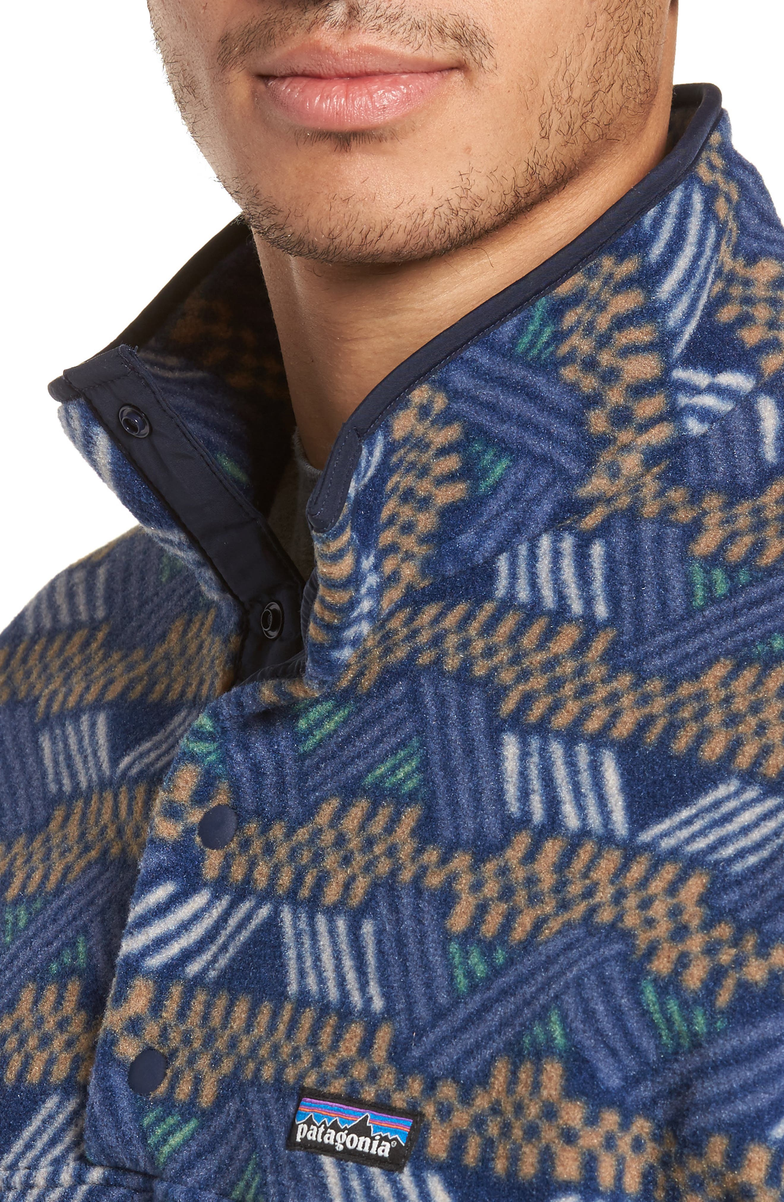 Synchilla<sup>®</sup> Snap-T<sup>®</sup> Fleece Pullover,                             Alternate thumbnail 4, color,                             Classic Navy