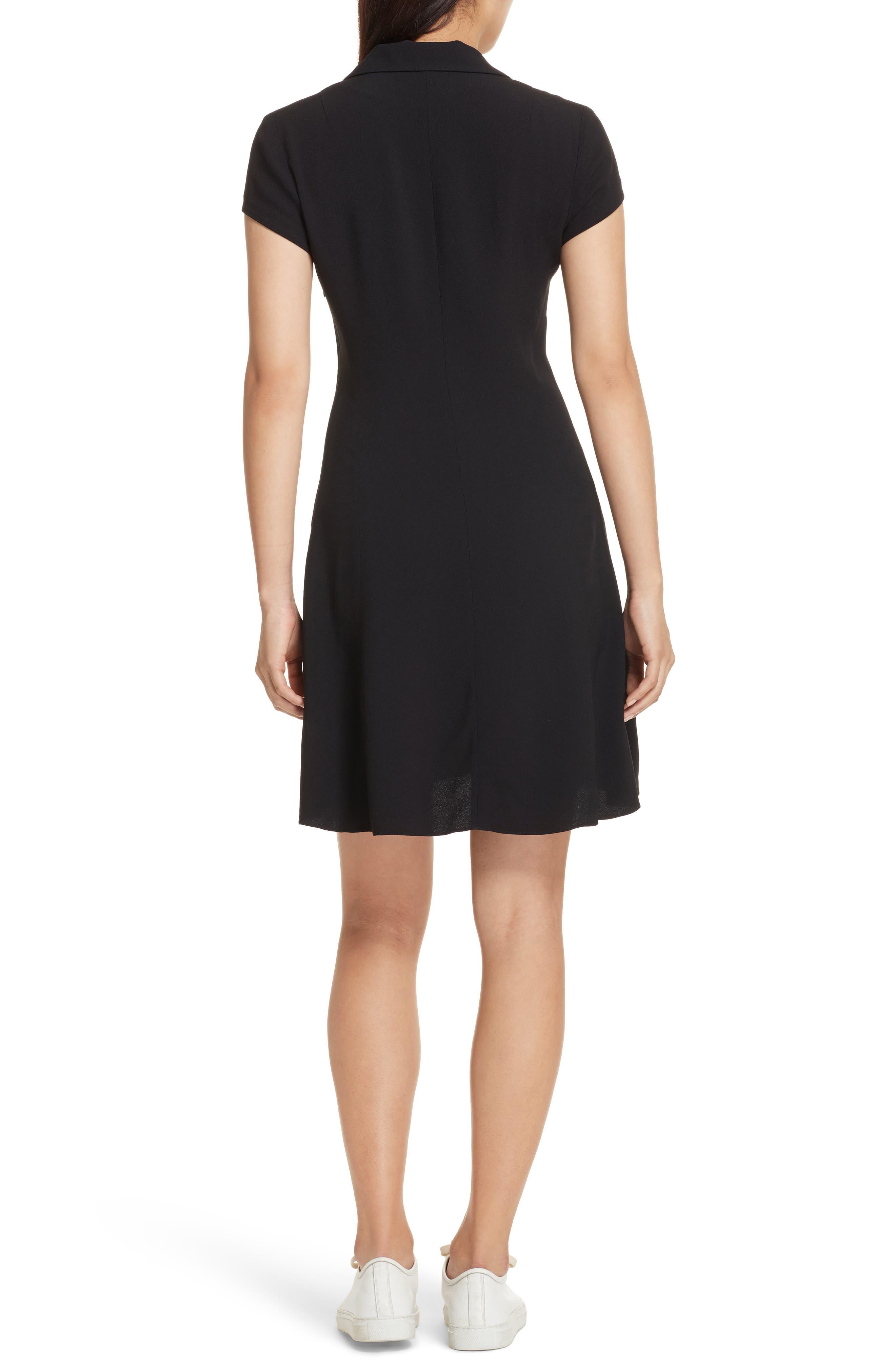 Rosina Easy Day Crepe Dress,                             Alternate thumbnail 2, color,                             Black