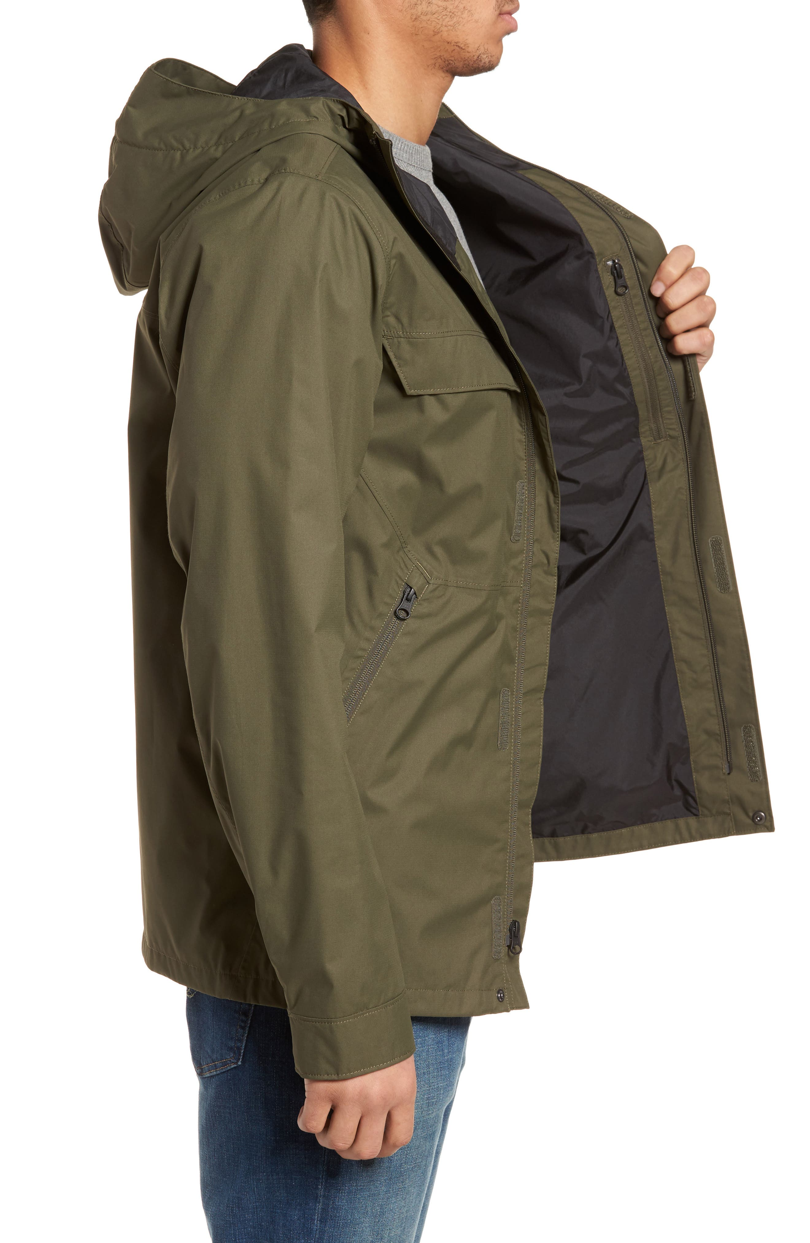 Jenison II Insulated Waterproof Jacket,                             Alternate thumbnail 3, color,                             New Taupe Green