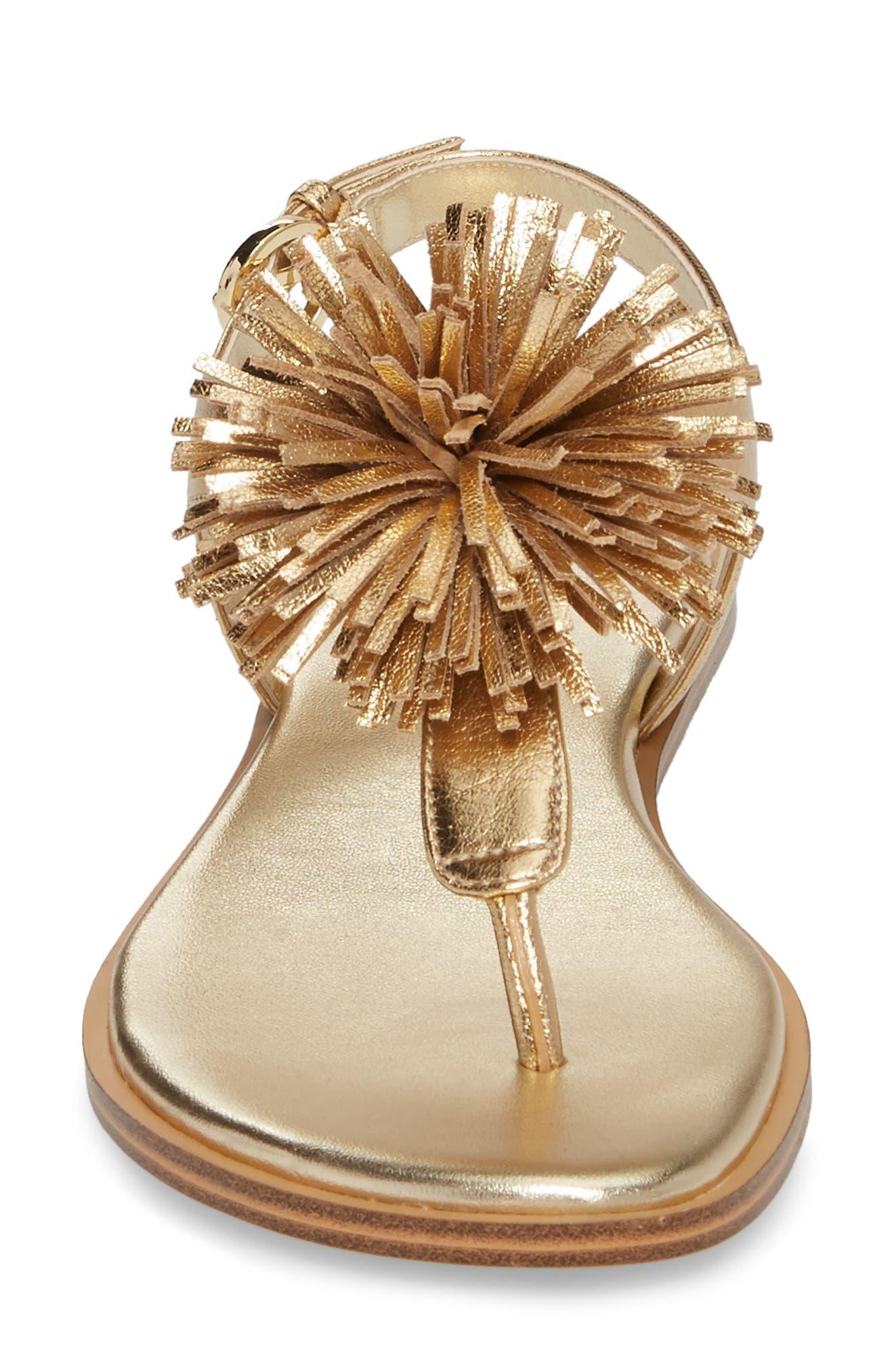 Lolita Sandal,                             Alternate thumbnail 4, color,                             Pale Gold Leather