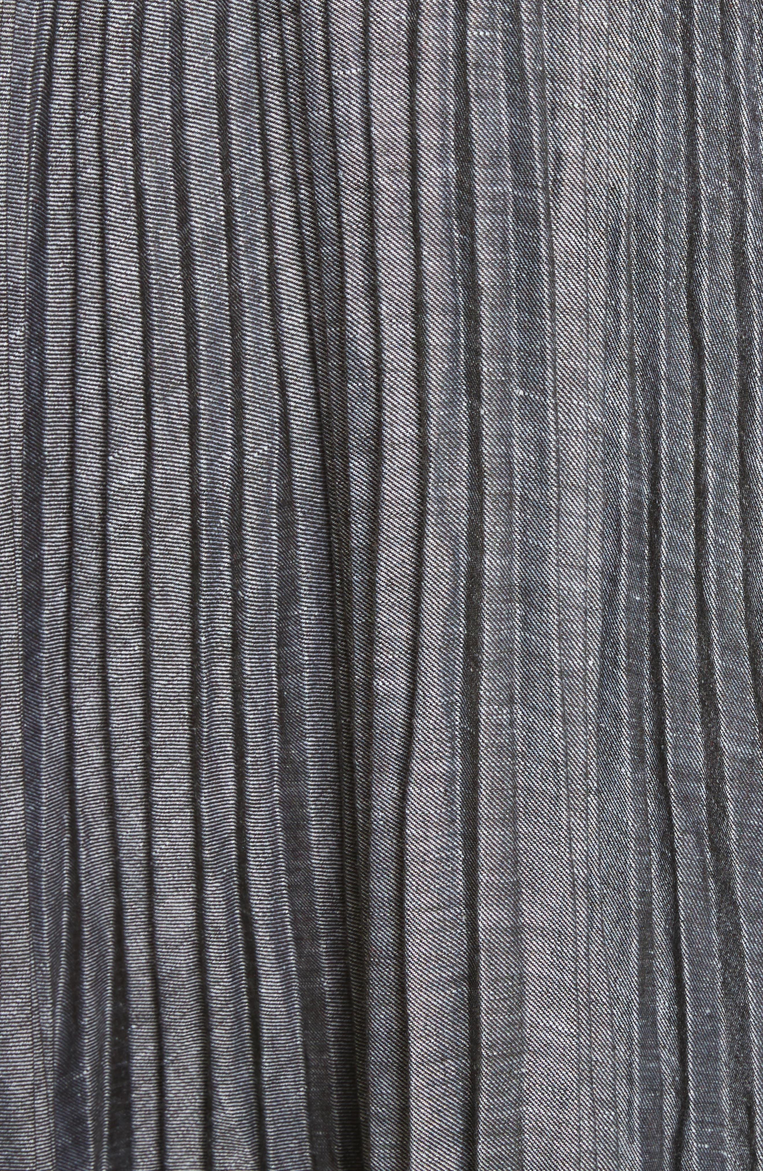 Sawyer High/Low Linen Blend Dress,                             Alternate thumbnail 5, color,                             Olive