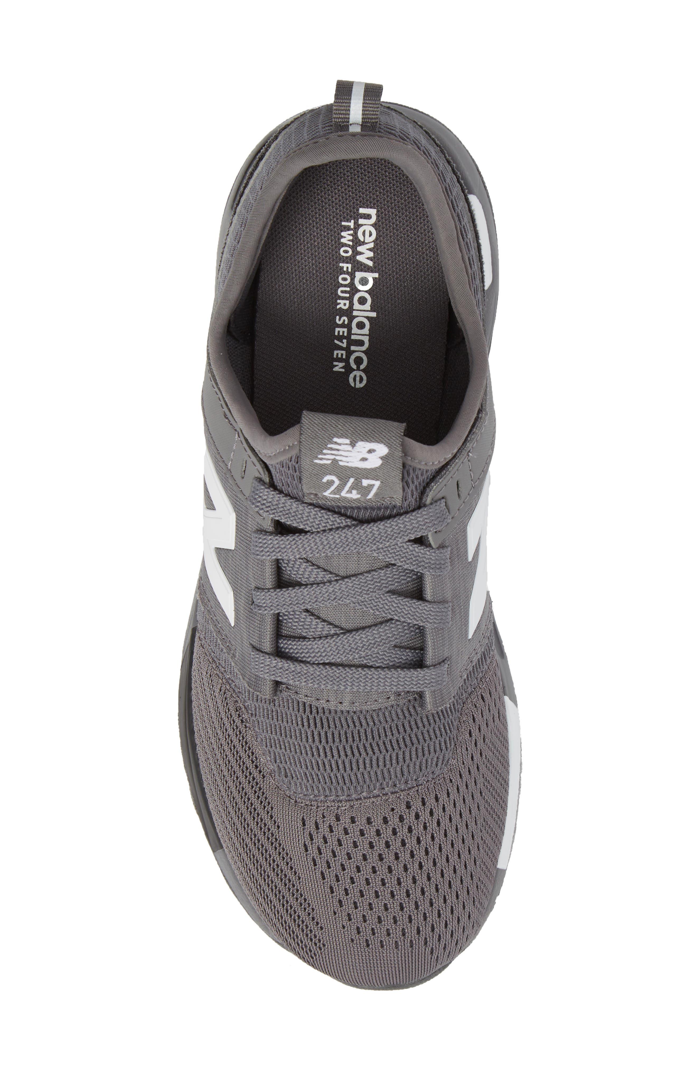 247 Sport Sneaker,                             Alternate thumbnail 5, color,                             Grey/ Black