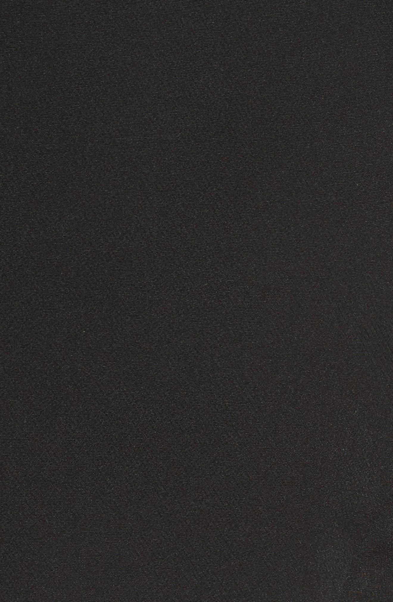 Asymmetrical Sheath Dress,                             Alternate thumbnail 5, color,                             Black