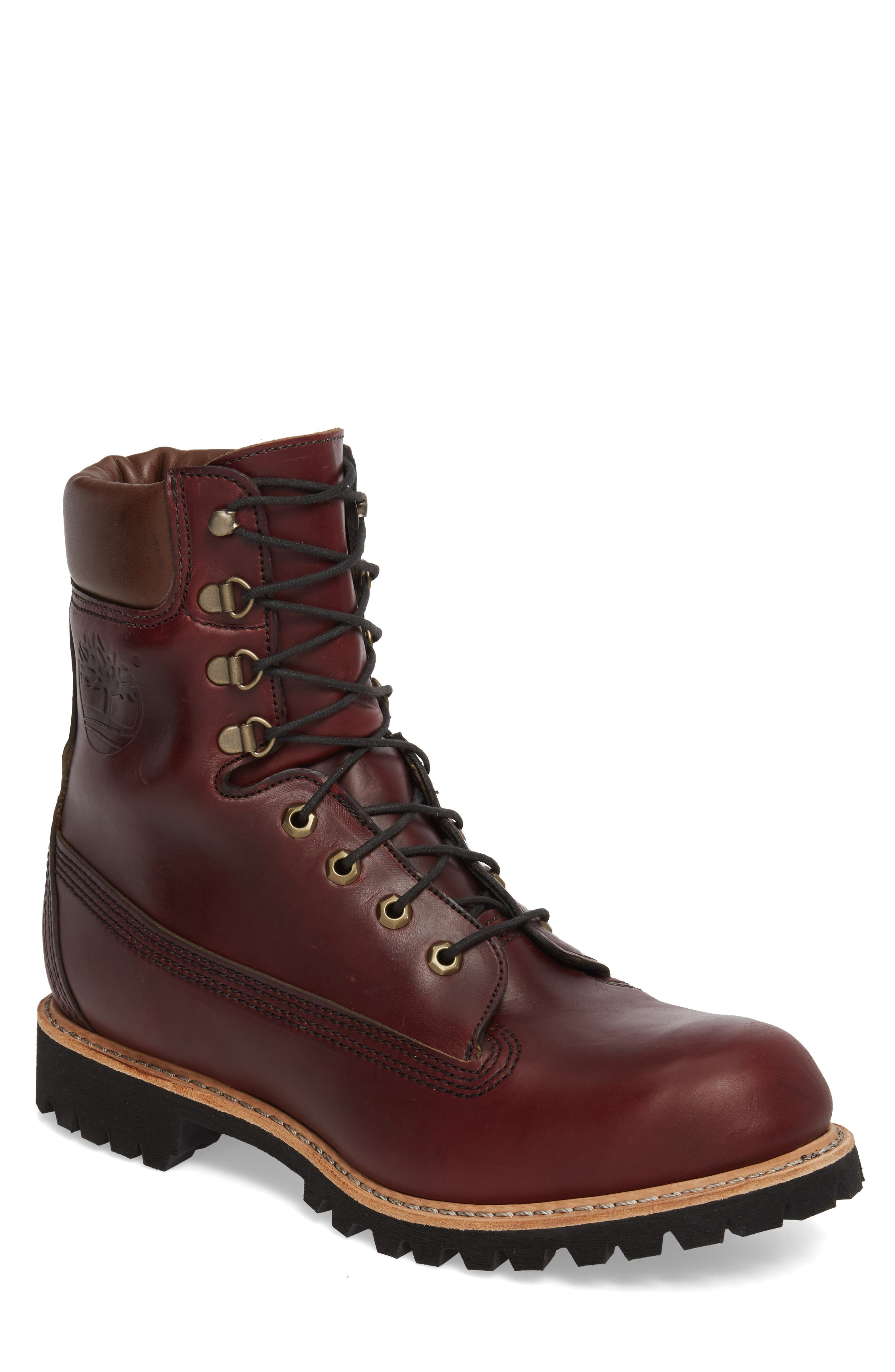 Plain Toe Boot,                             Main thumbnail 1, color,                             Burgundy Chromexel Horween