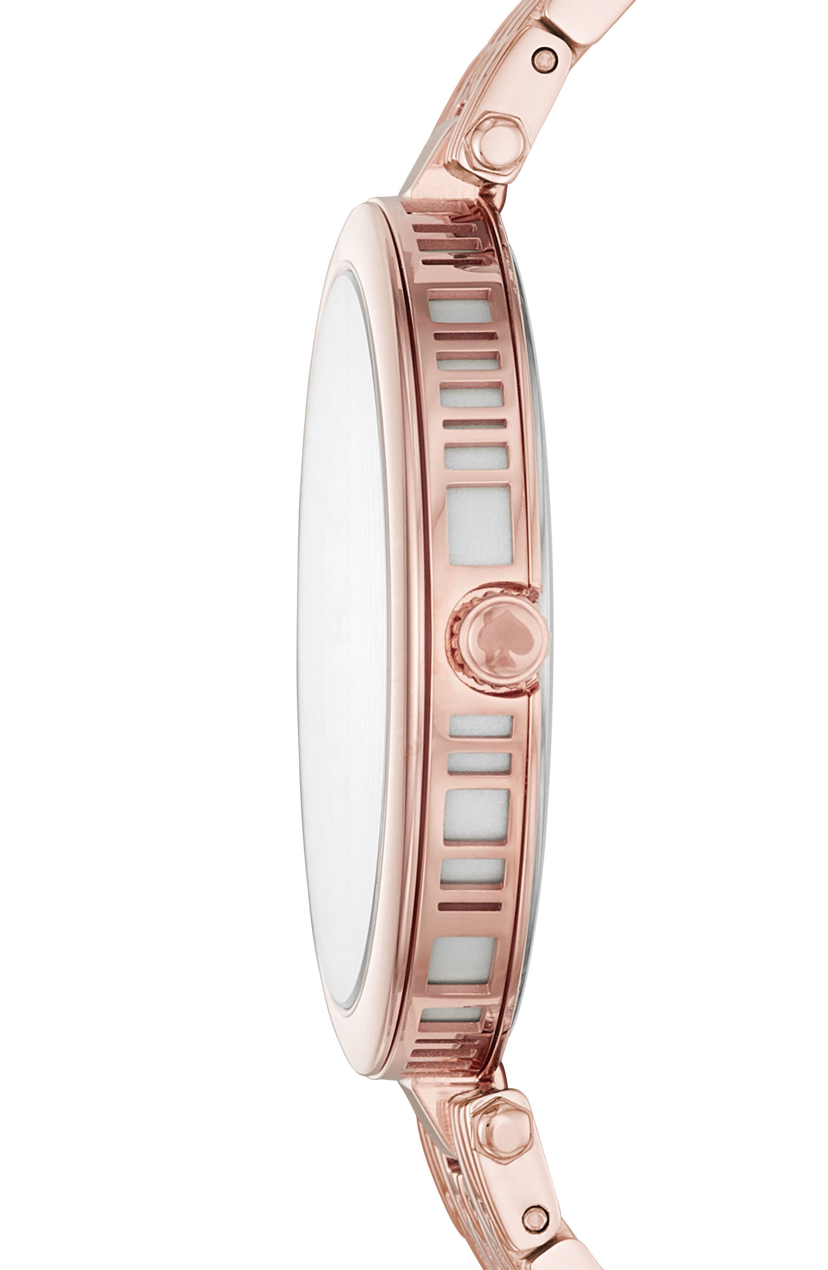 varick bracelet watch, 36mm,                             Alternate thumbnail 2, color,                             Pink/ Silver/ Pink