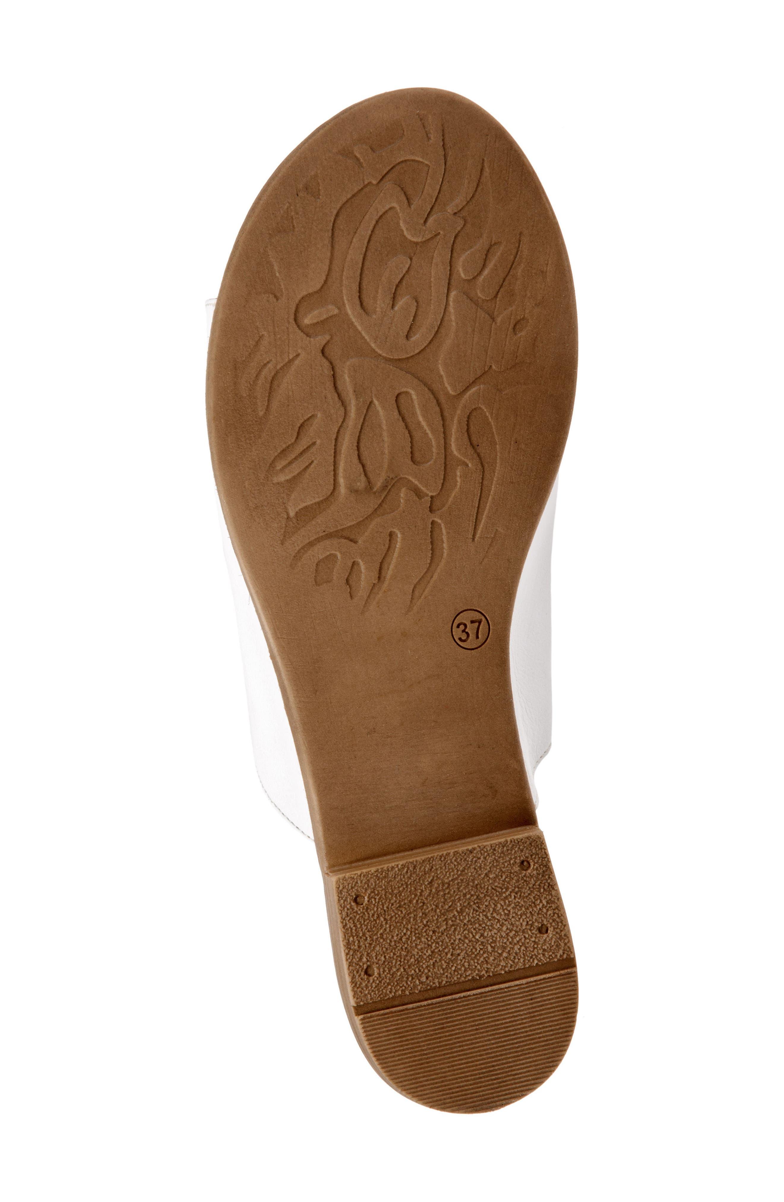 Jory Slide Sandal,                             Alternate thumbnail 6, color,                             White Leather