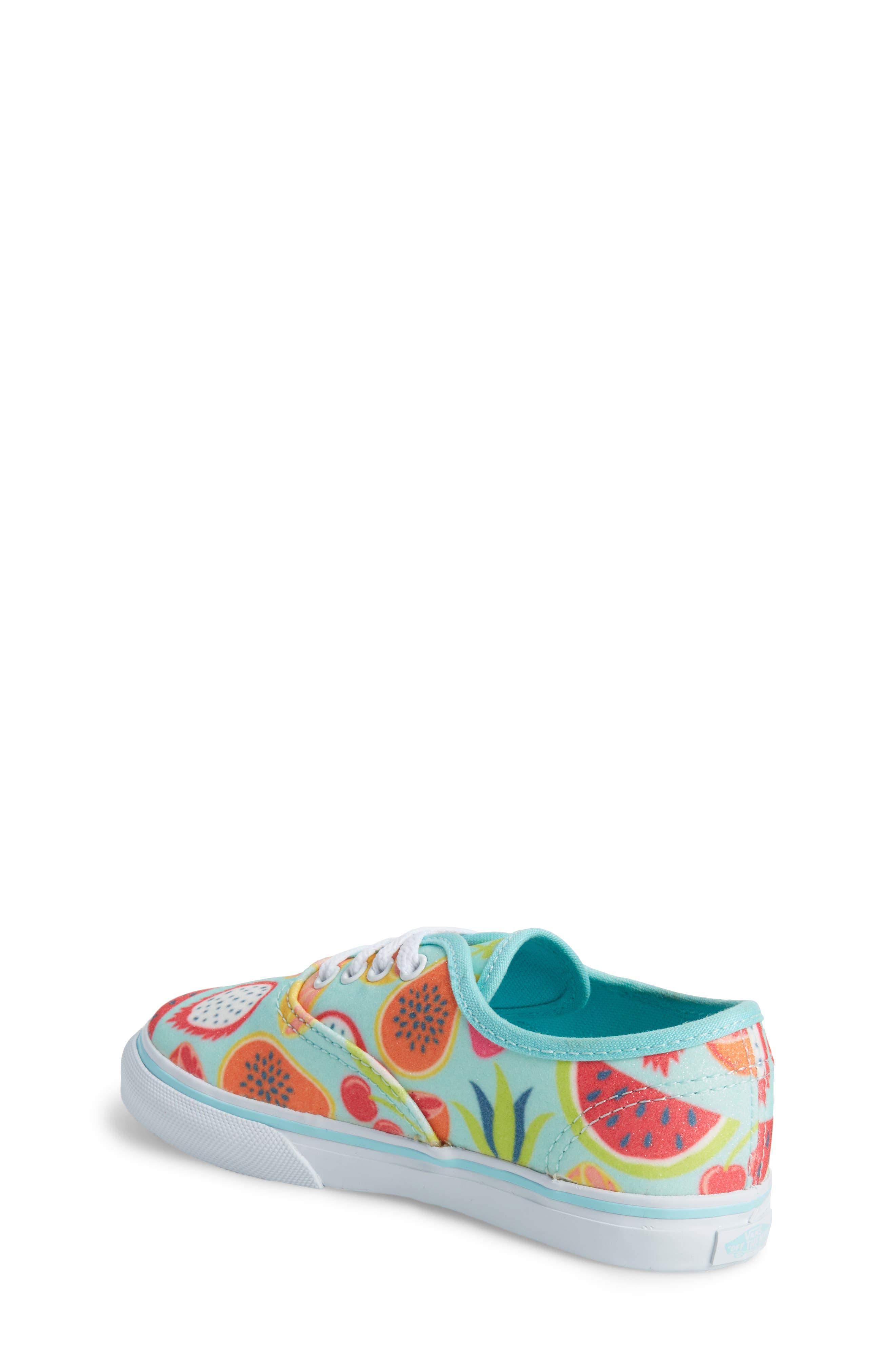 Authentic Glitter Fruits Sneaker,                             Alternate thumbnail 2, color,                             Island Paradise/ Glitter Fruit