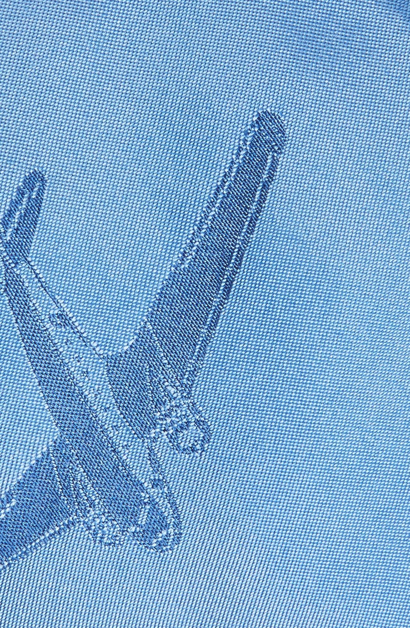 Plane Print Silk Tie,                             Alternate thumbnail 2, color,                             Blue