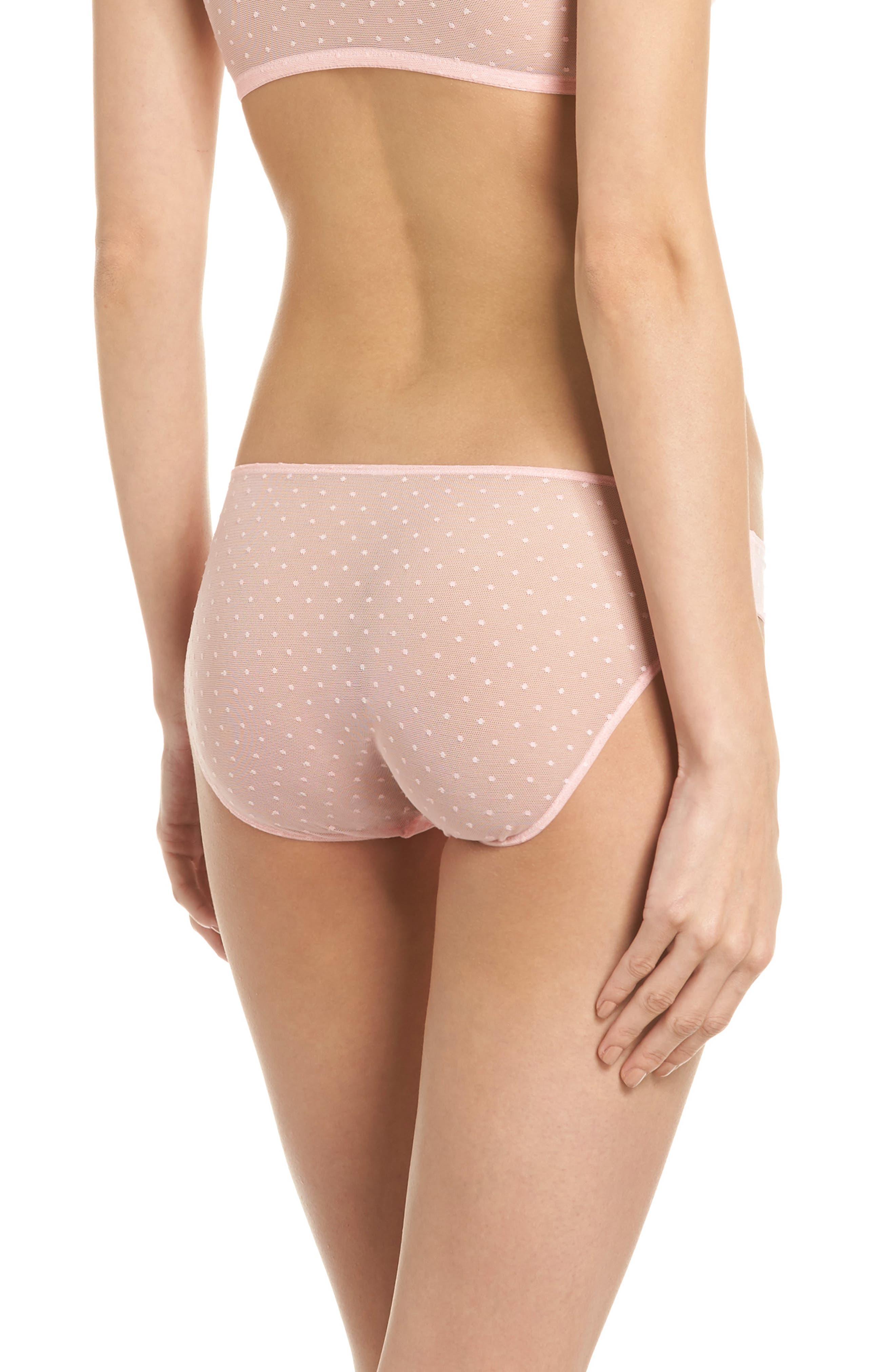 Swiss Dot Bikini,                             Alternate thumbnail 2, color,                             Candy Pink