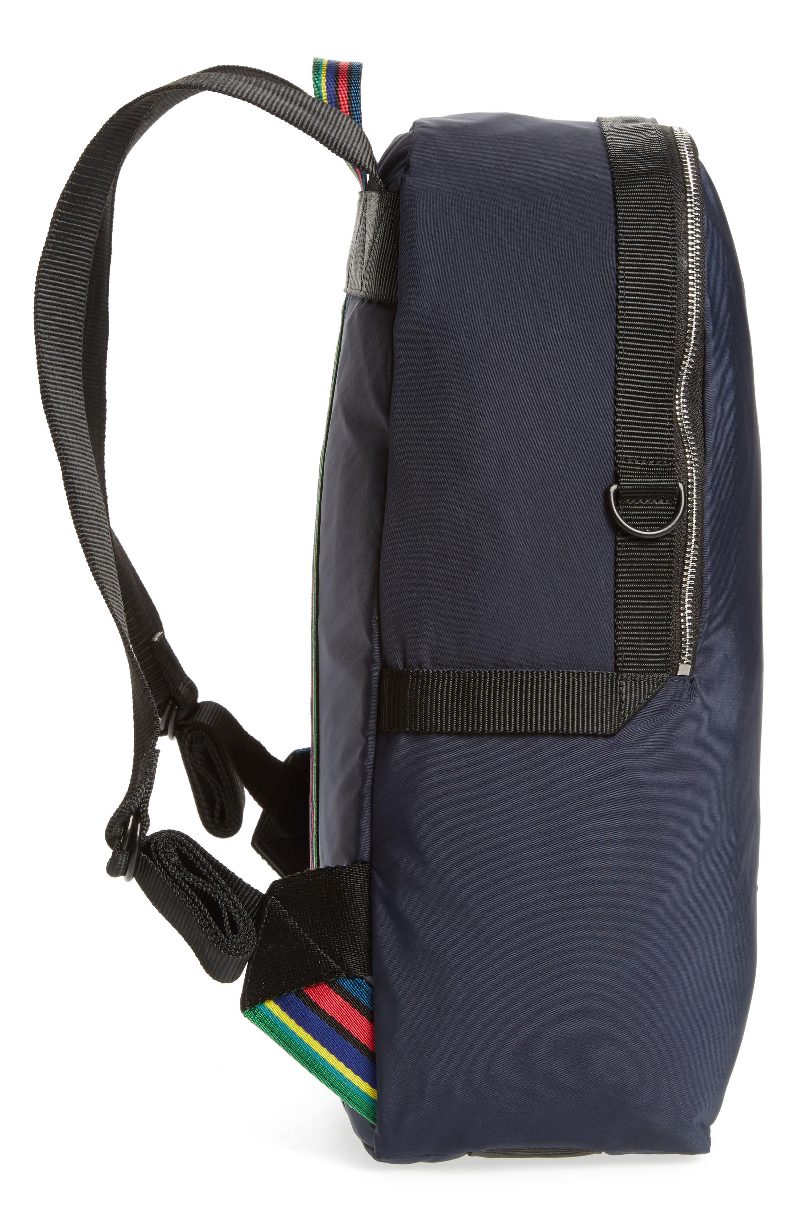 Nylon Backpack,                             Alternate thumbnail 5, color,                             Navy