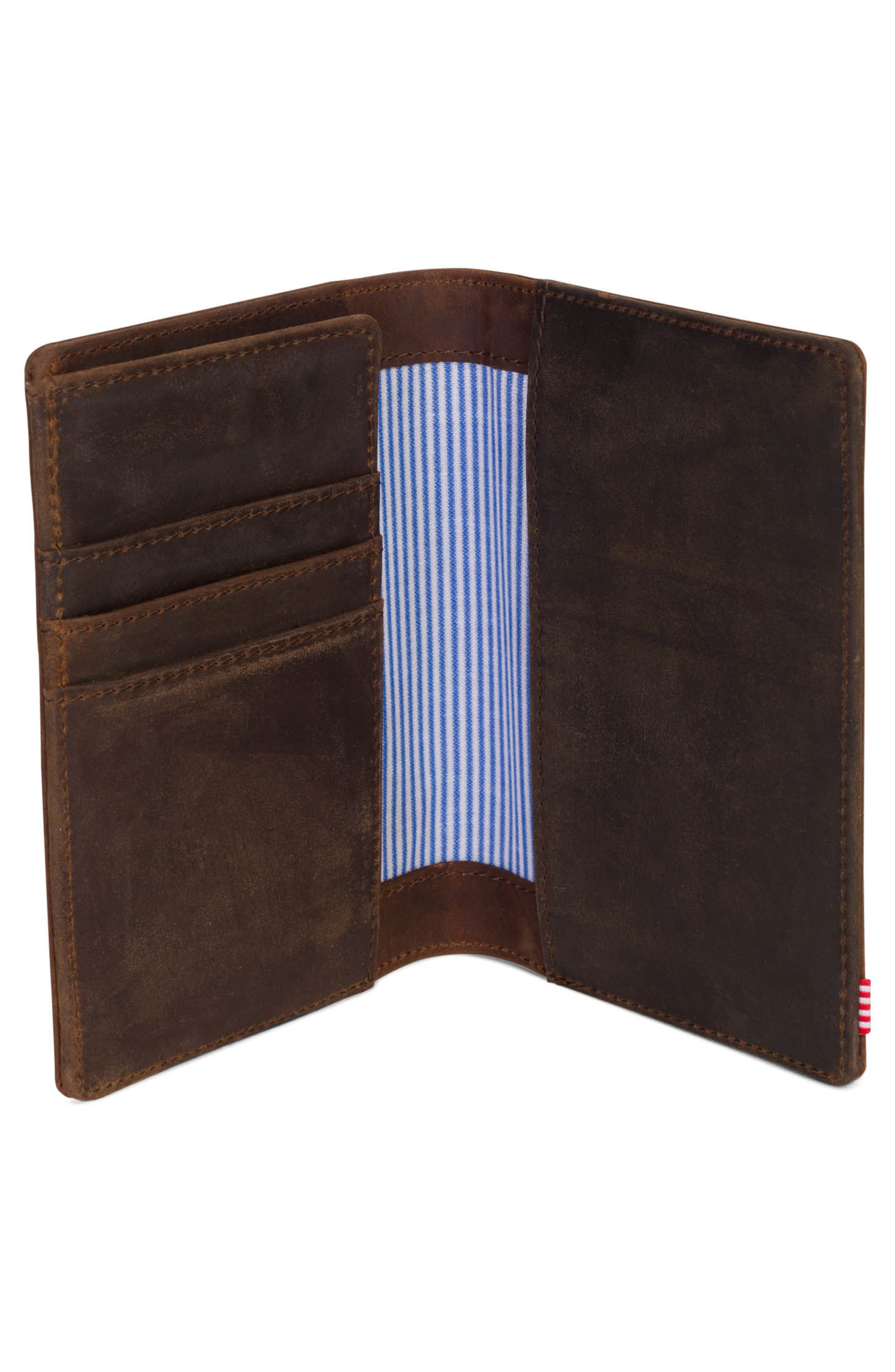 Raynor Nubuck Leather Passport Holder,                             Alternate thumbnail 2, color,                             Brown