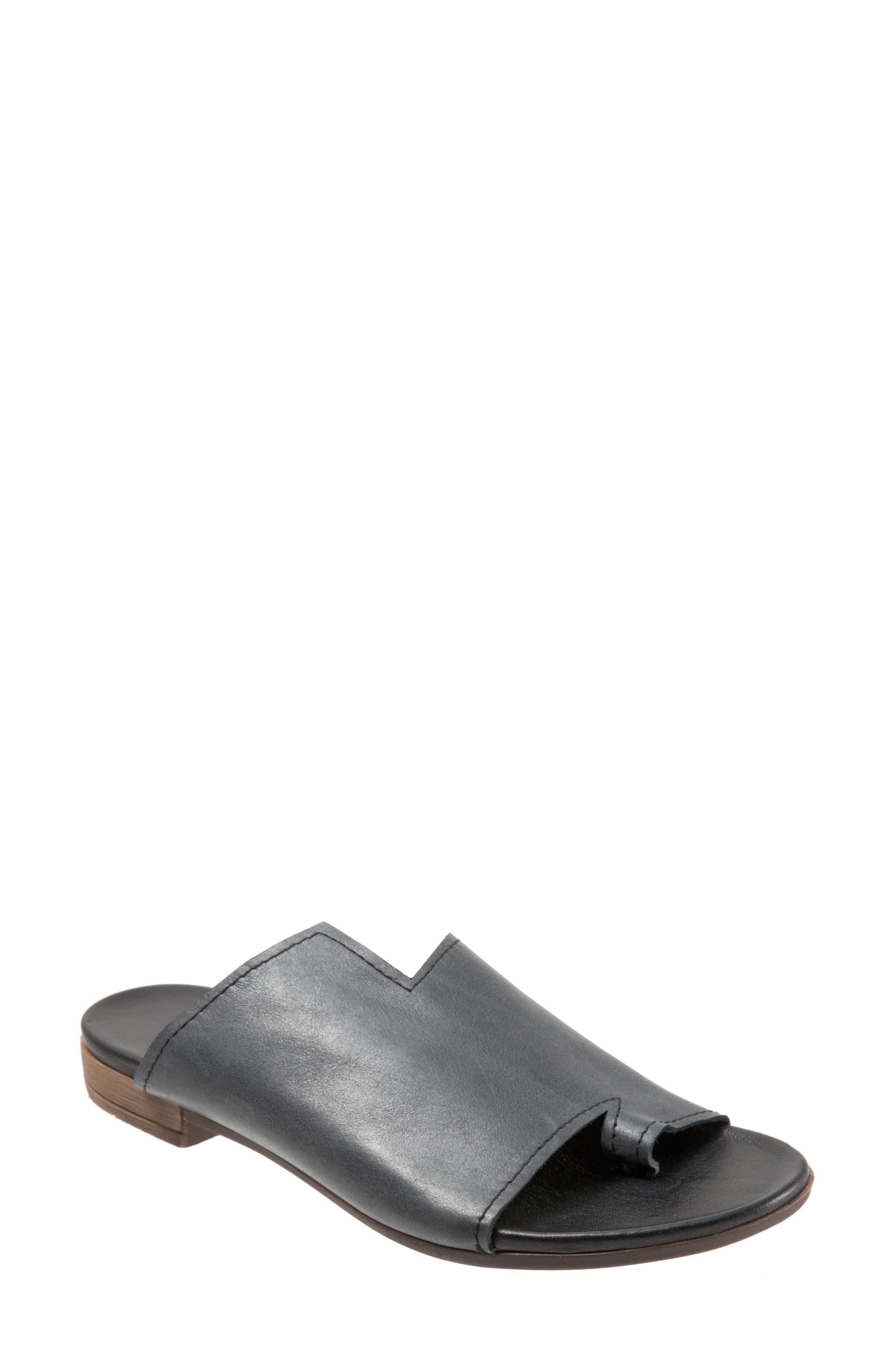Tulla Sandal,                             Main thumbnail 1, color,                             Black Leather