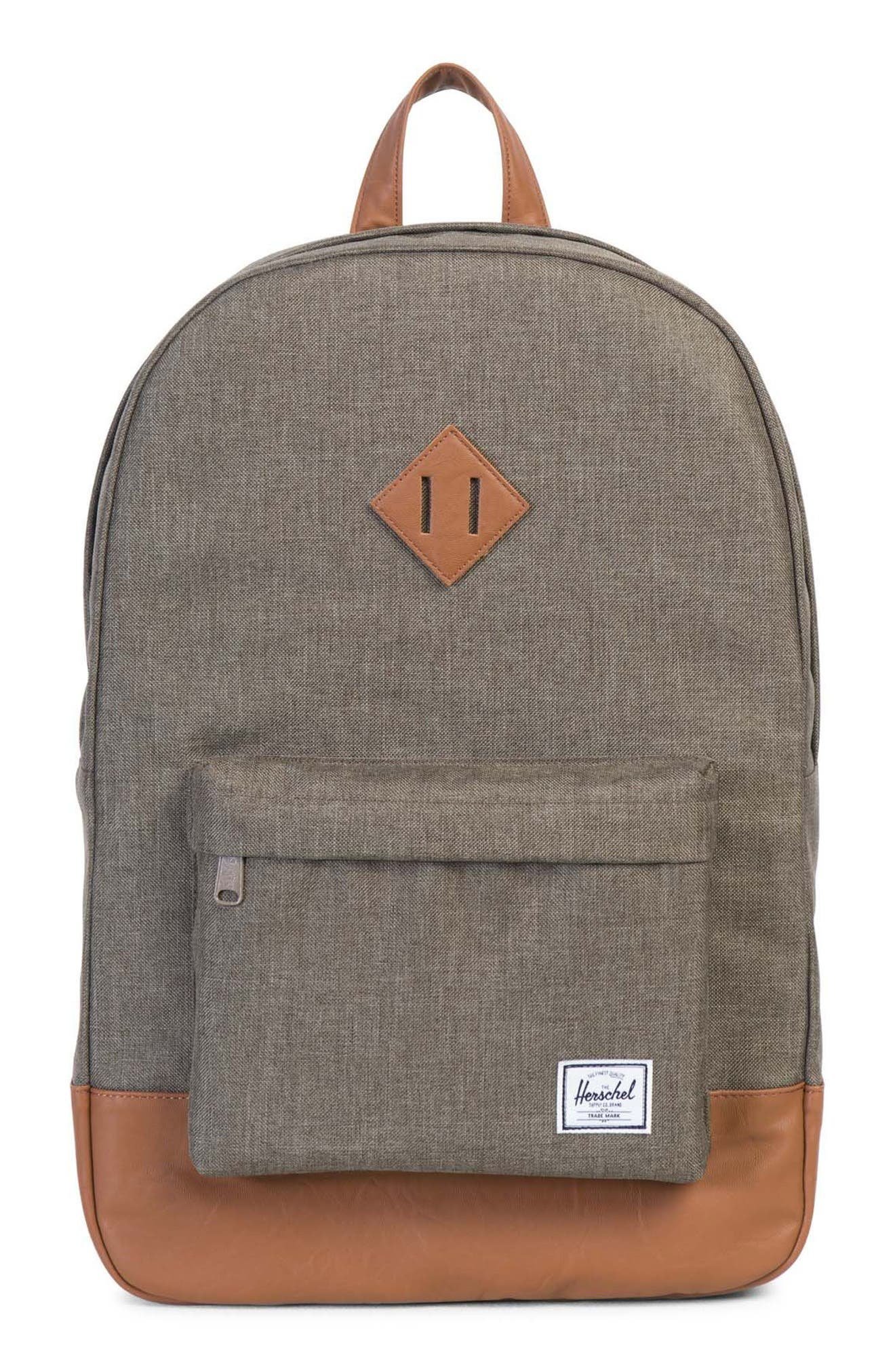 Heritage Backpack,                         Main,                         color, Canteen Crosshatch/ Tan