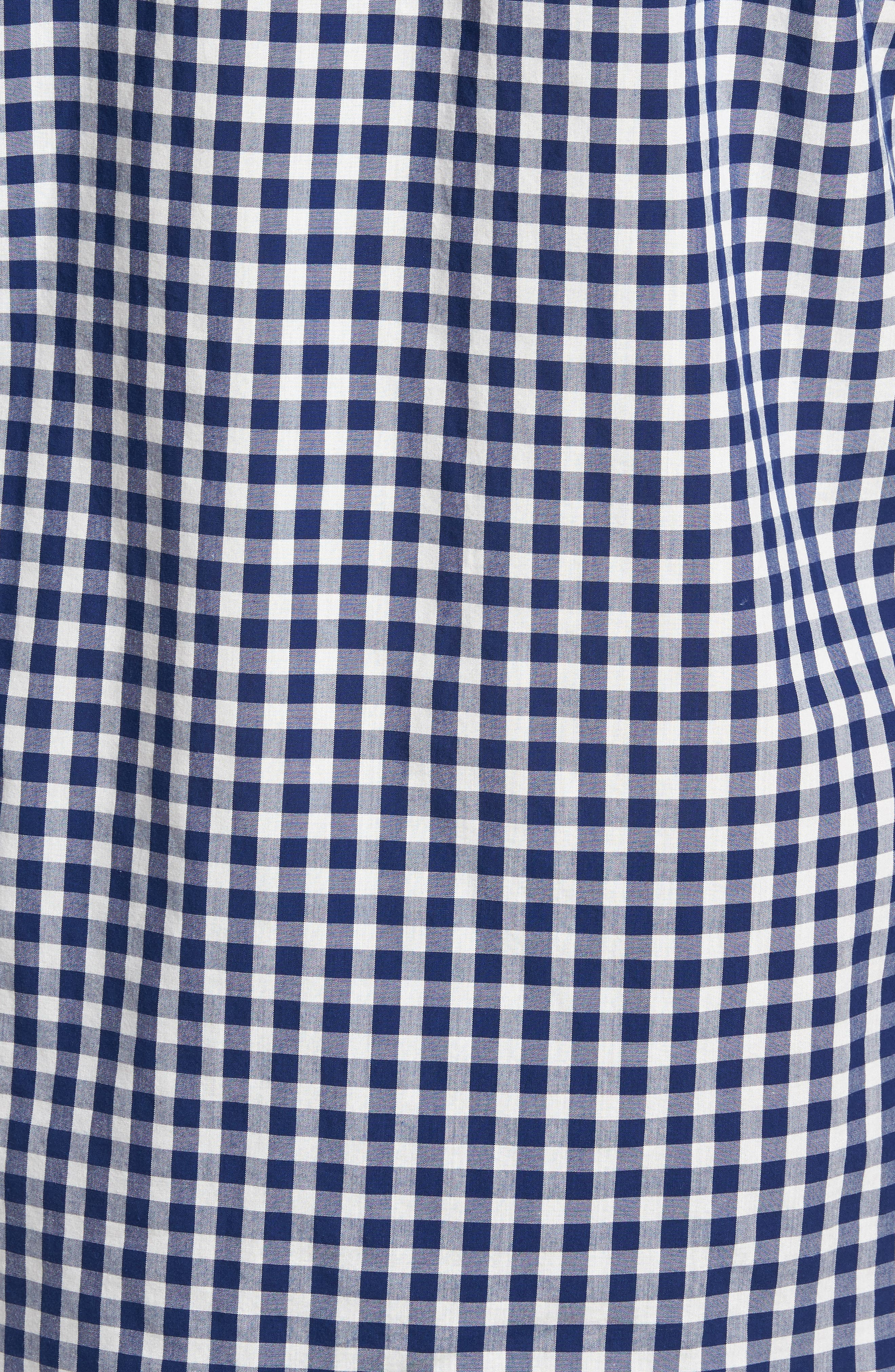 Summerweight Slim Fit Check Sport Shirt,                             Alternate thumbnail 5, color,                             Canyon Gingham - Blue Depths