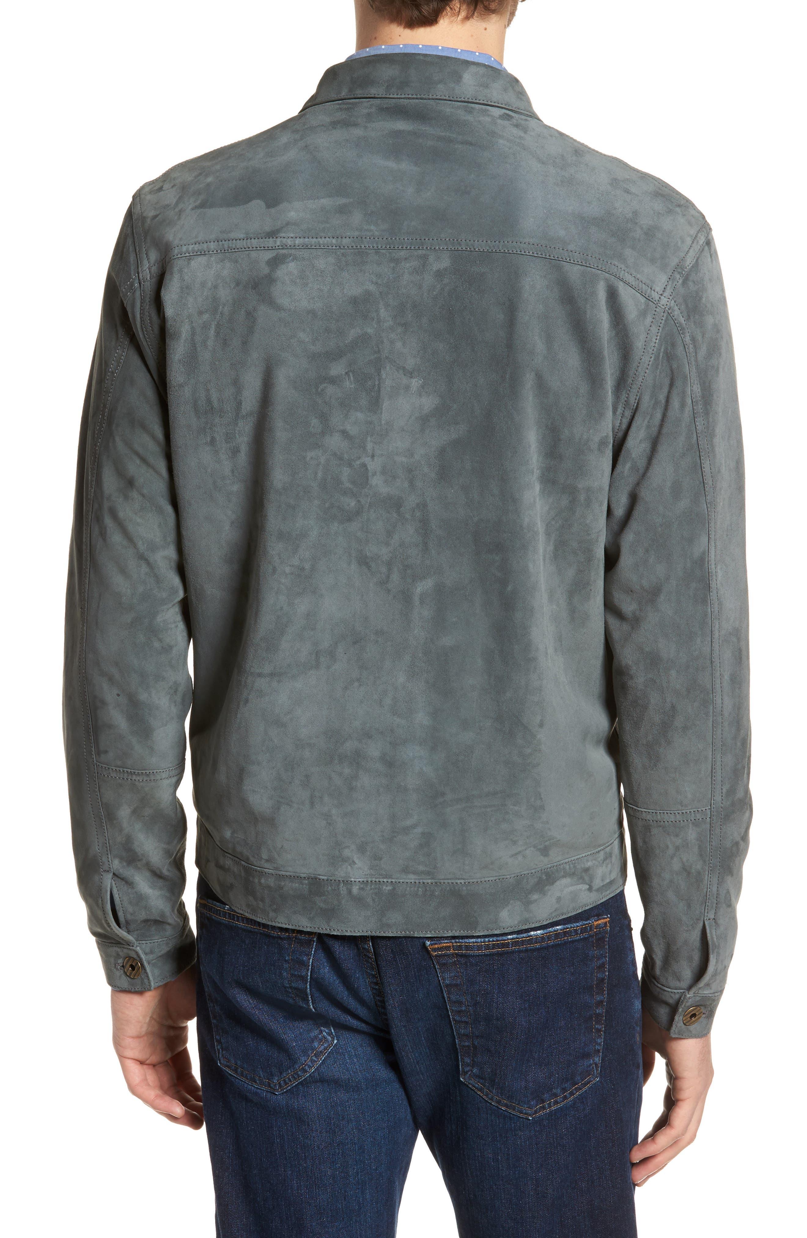 Cullen Suede Jacket,                             Alternate thumbnail 2, color,                             Aspha