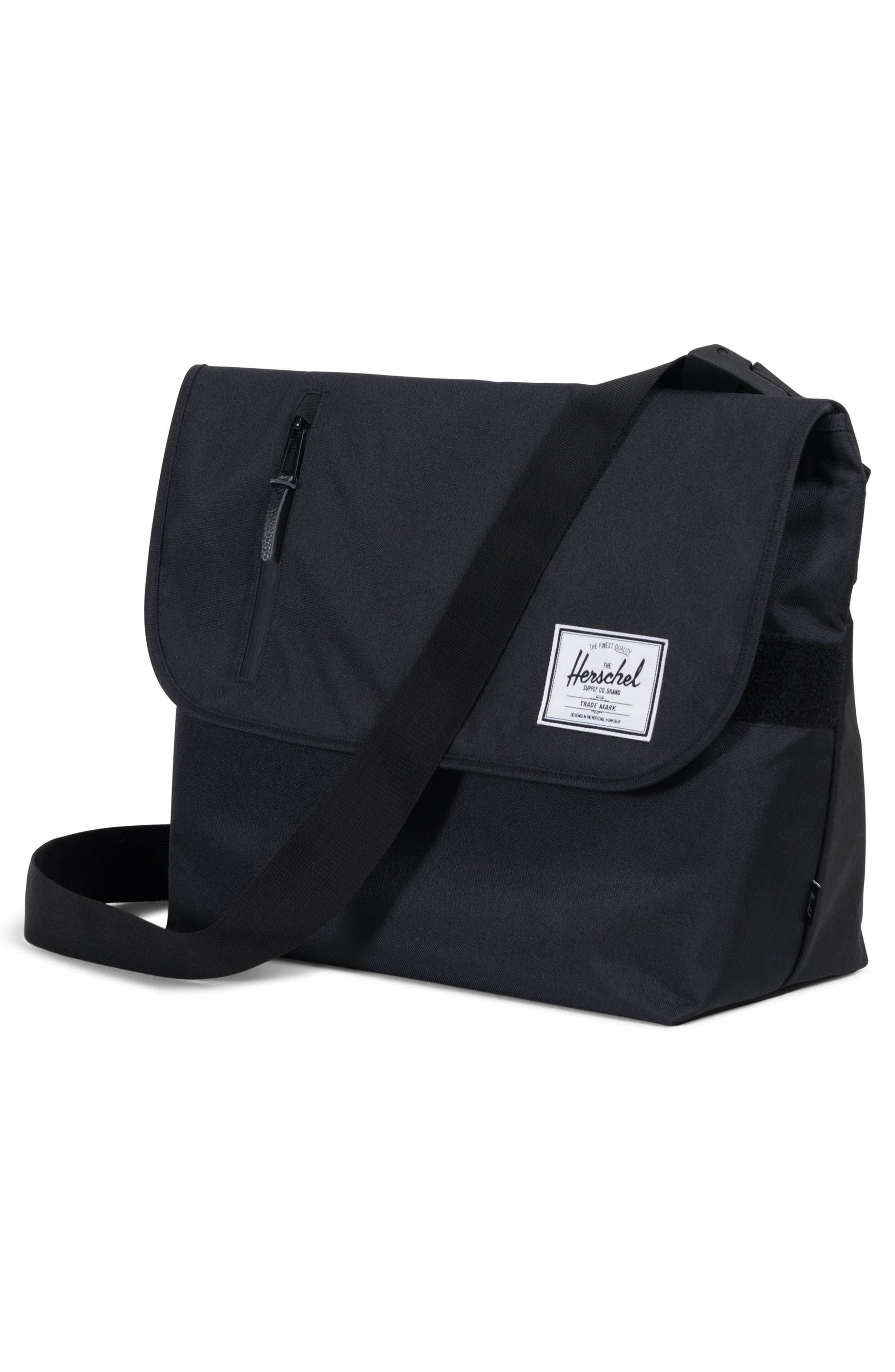Odell Messenger Bag,                             Alternate thumbnail 4, color,                             Black