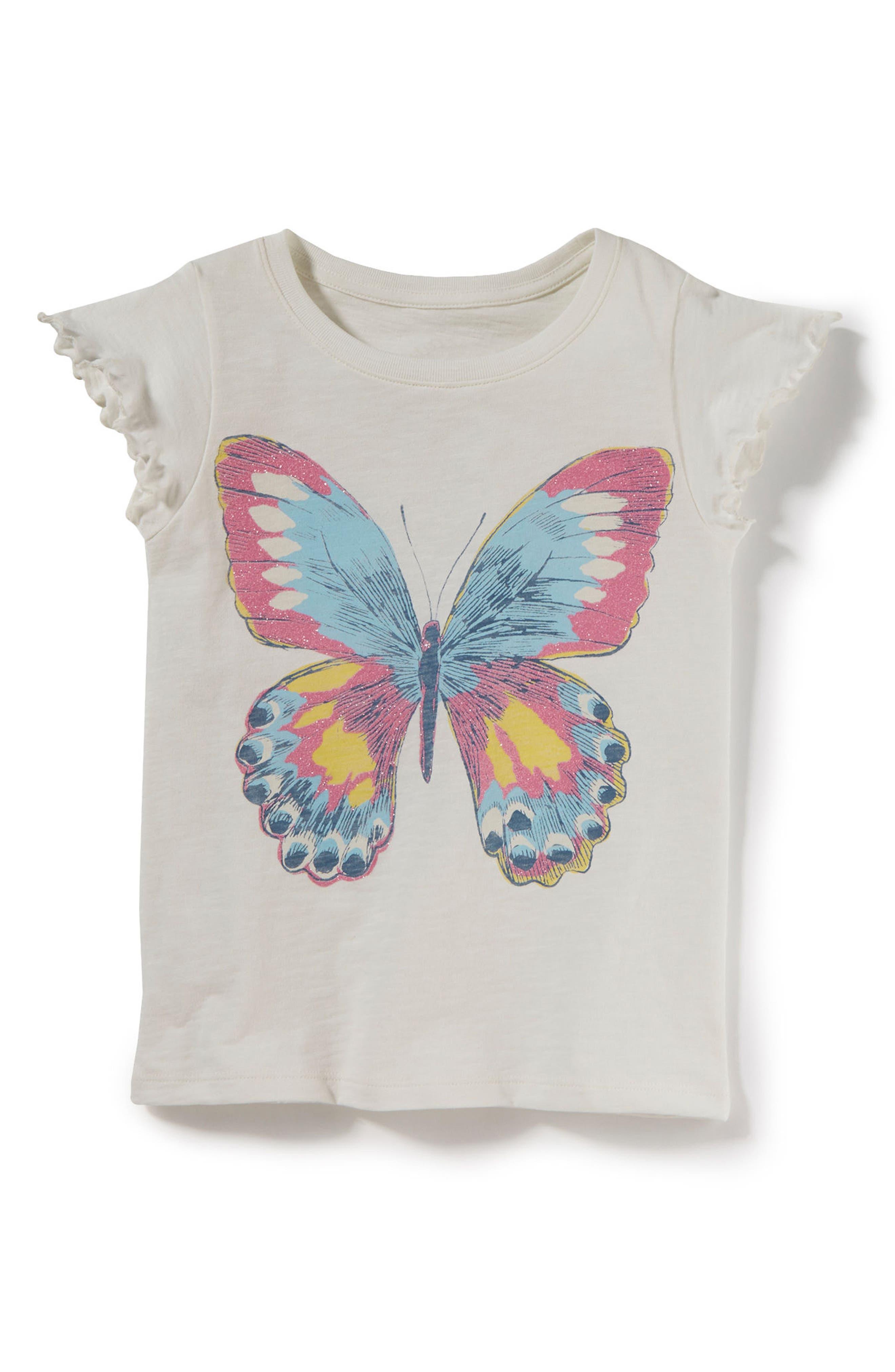 Main Image - Peek Butterfly Tee (Toddler Girls, Little Girls & Big Girls)