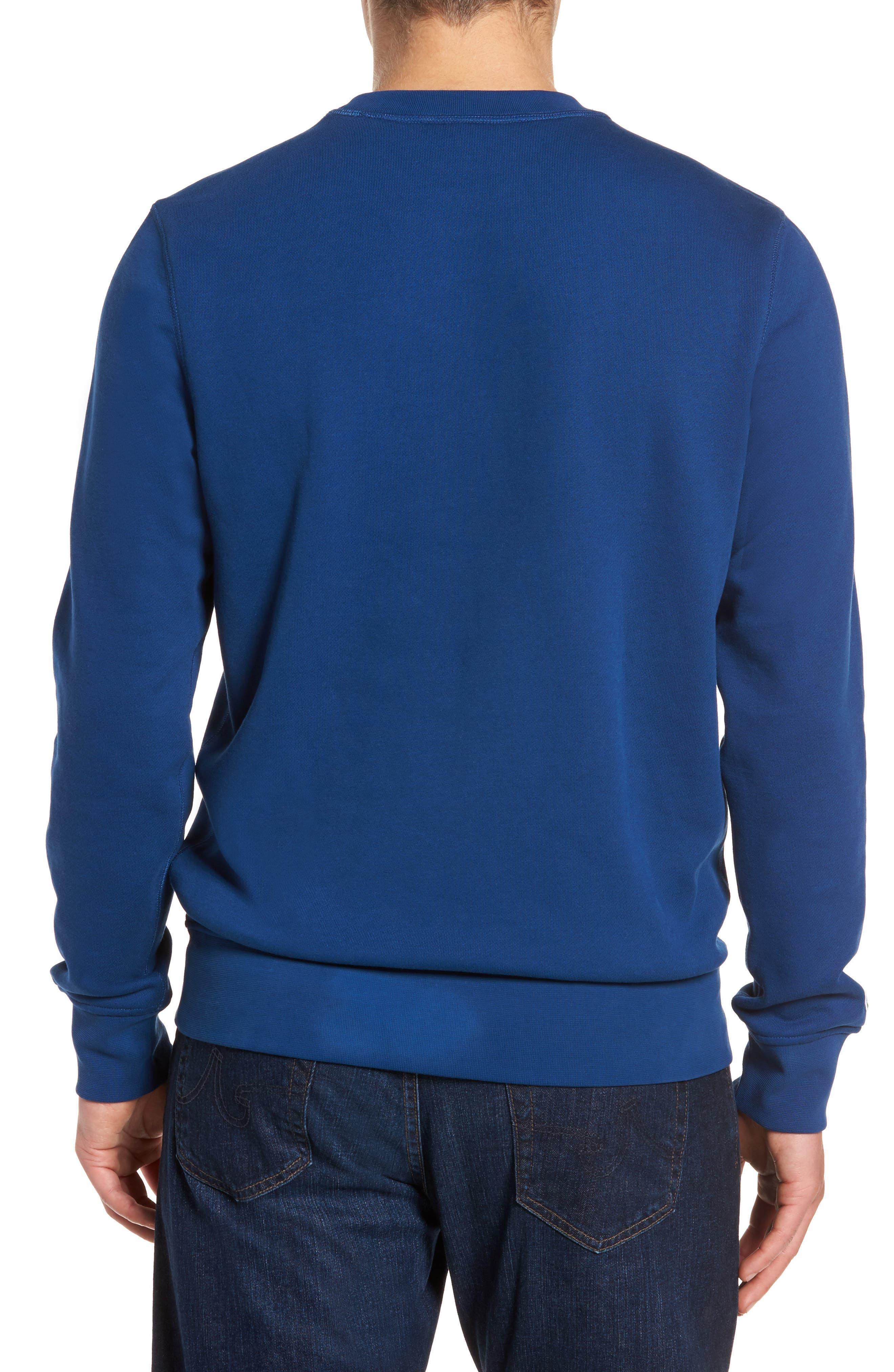 Alternate Image 2  - Lacoste Lettering Fleece Sweatshirt