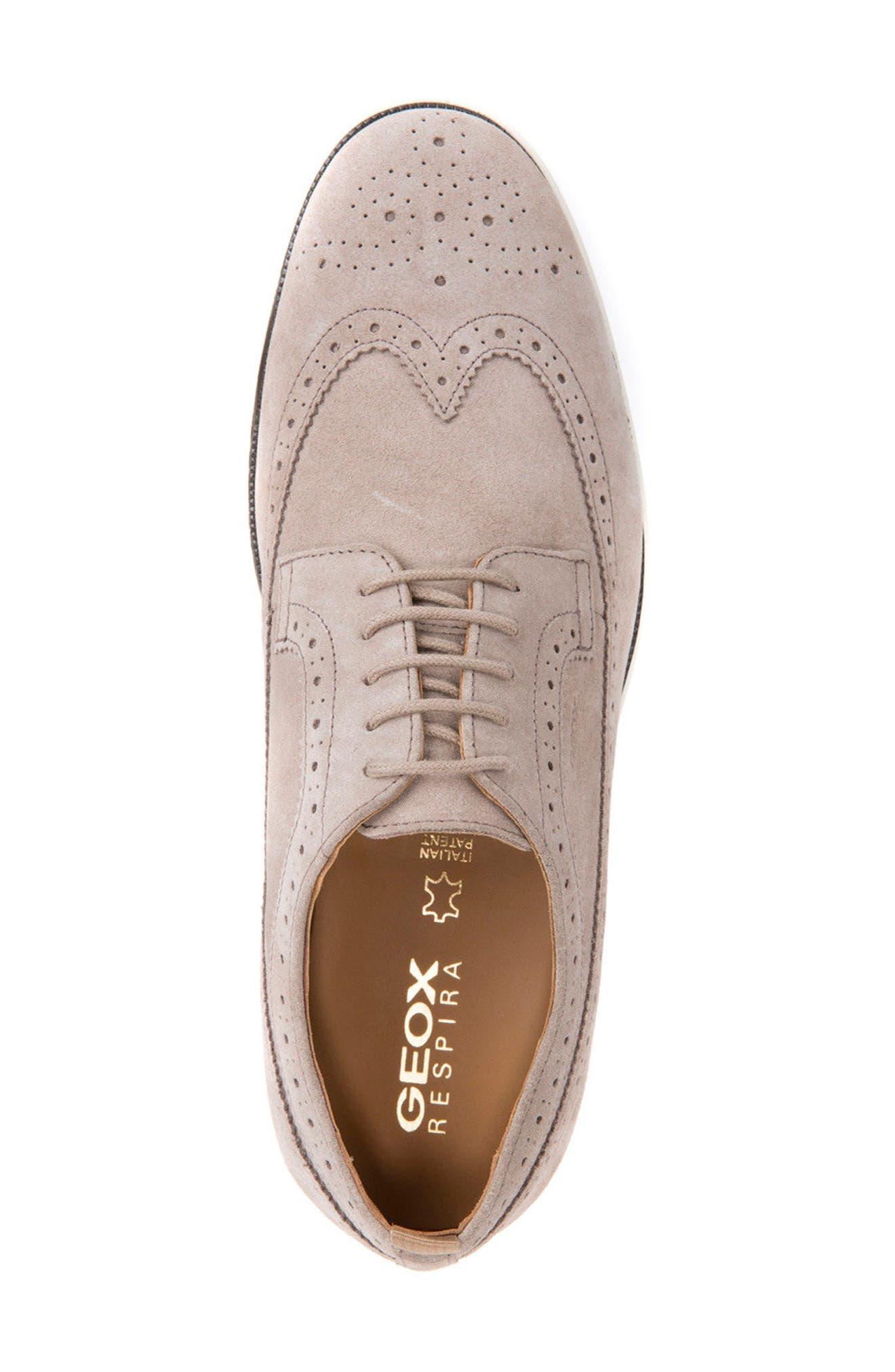 Winfred 2 Wingtip,                             Alternate thumbnail 5, color,                             Taupe Suede