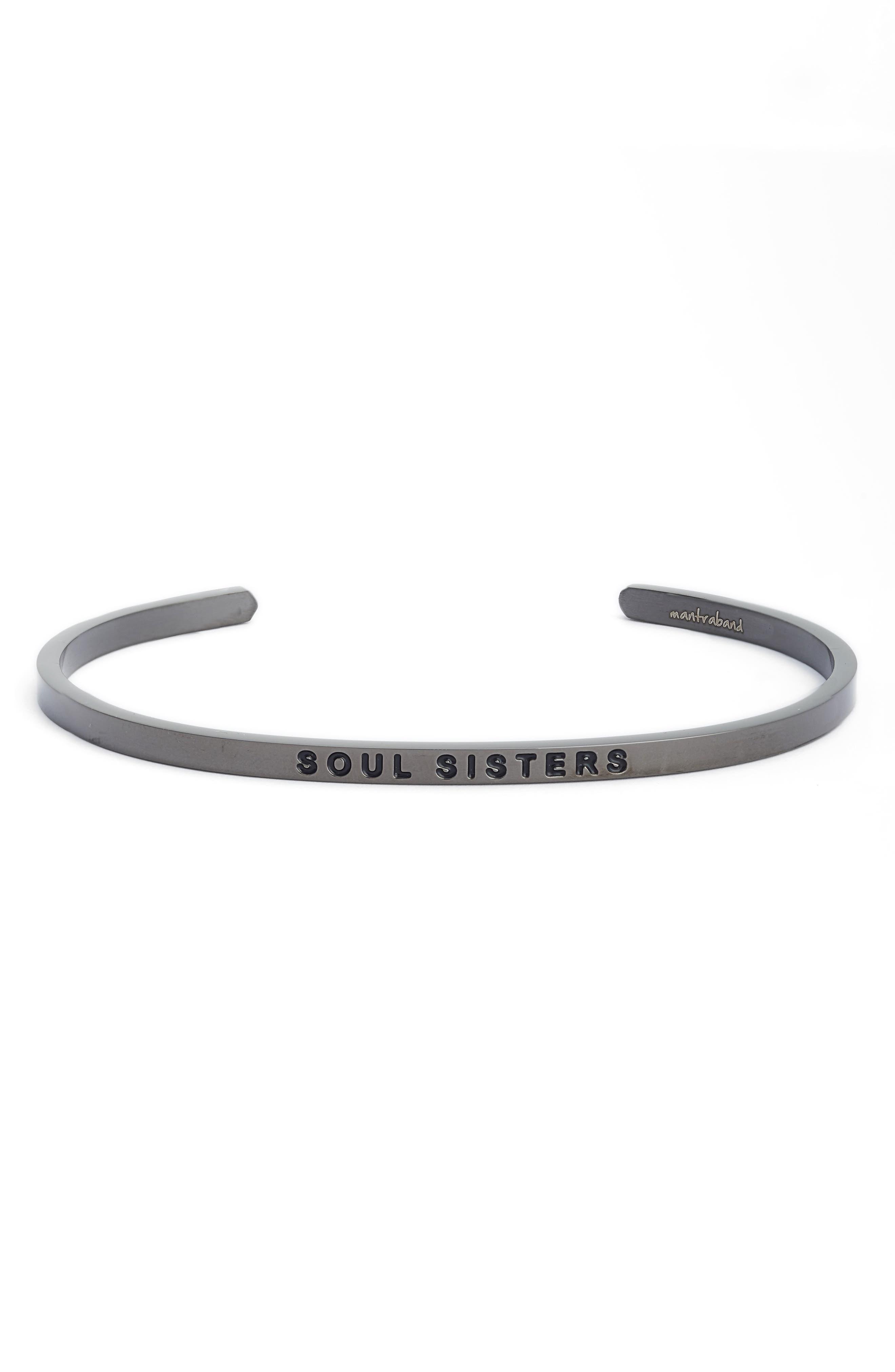 Soul Sisters Cuff Bracelet,                             Main thumbnail 1, color,                             Moon Gray