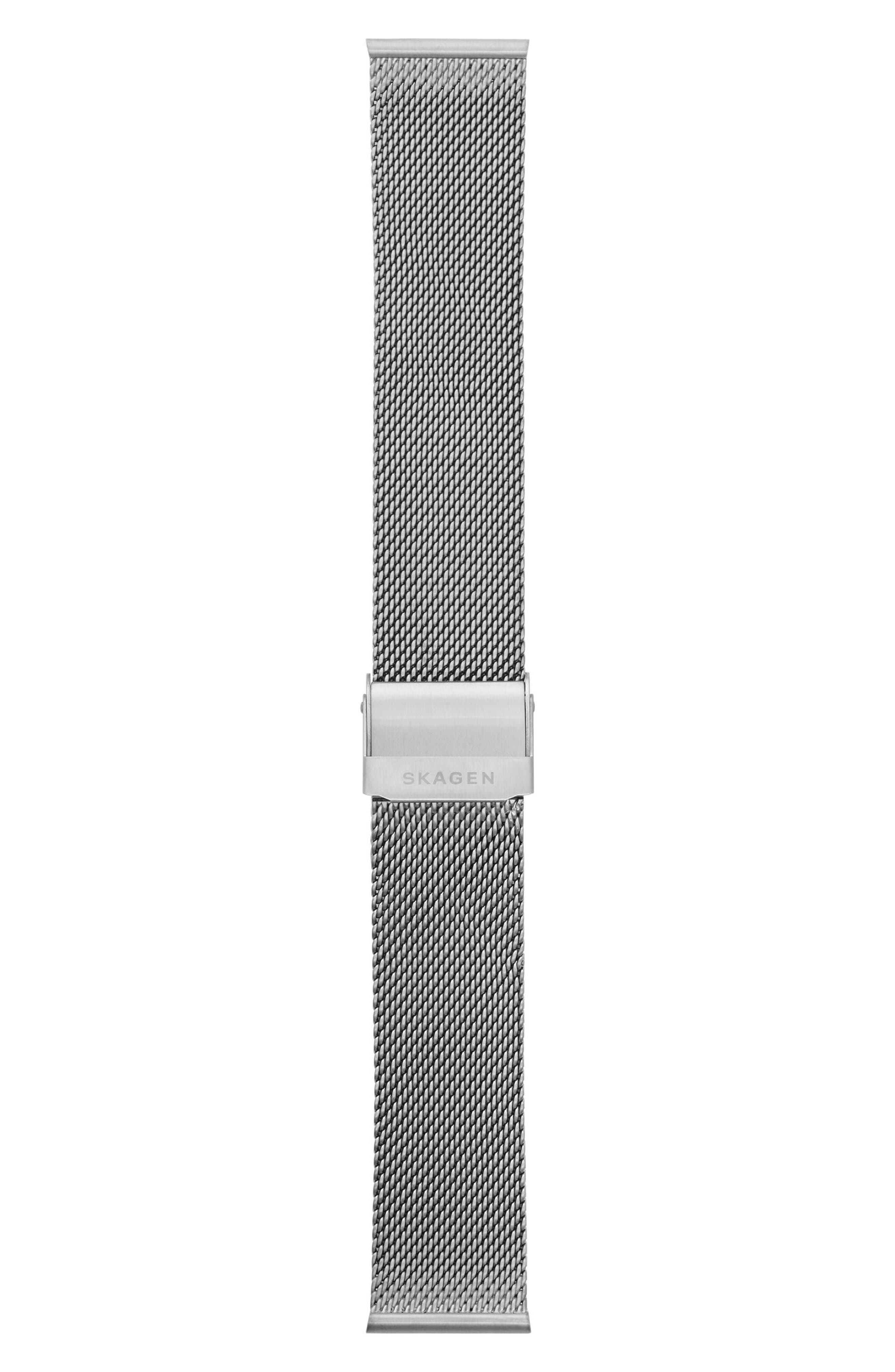 Holst Mesh Watch Strap, 21mm,                             Alternate thumbnail 2, color,                             Gunmetal