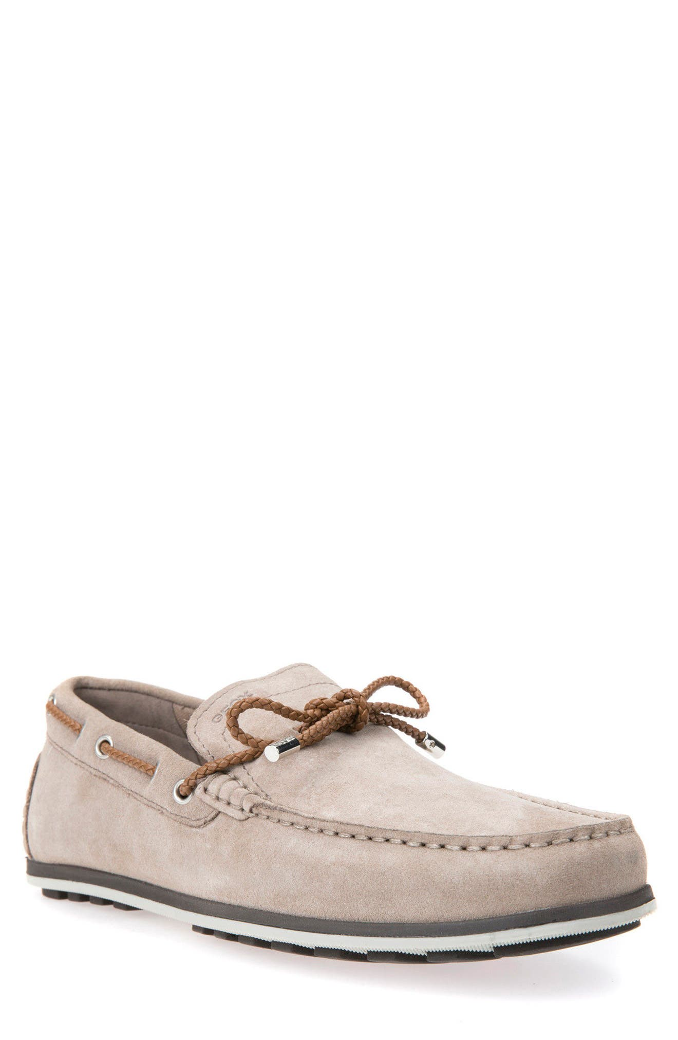 Mirvin 2 Boat Shoe,                             Main thumbnail 1, color,                             Taupe Suede
