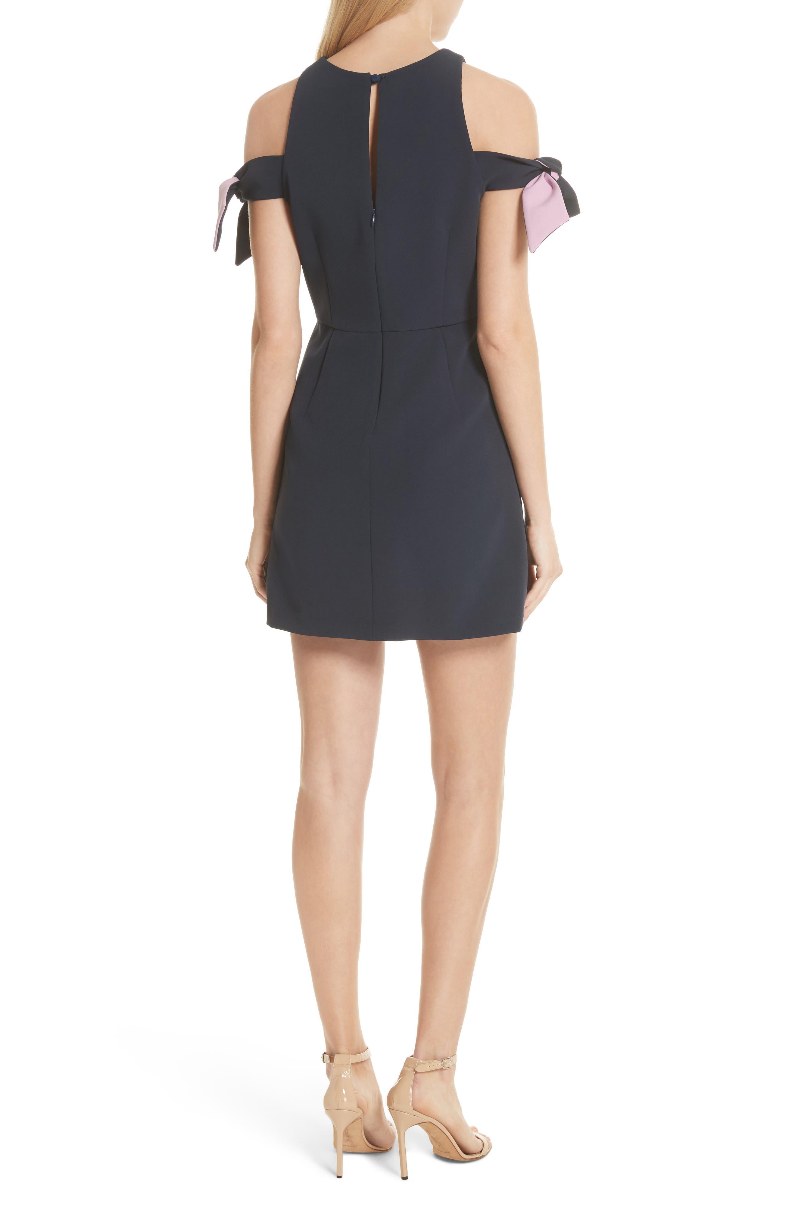 Alternate Image 2  - Milly Madison Cold Shoulder Minidress