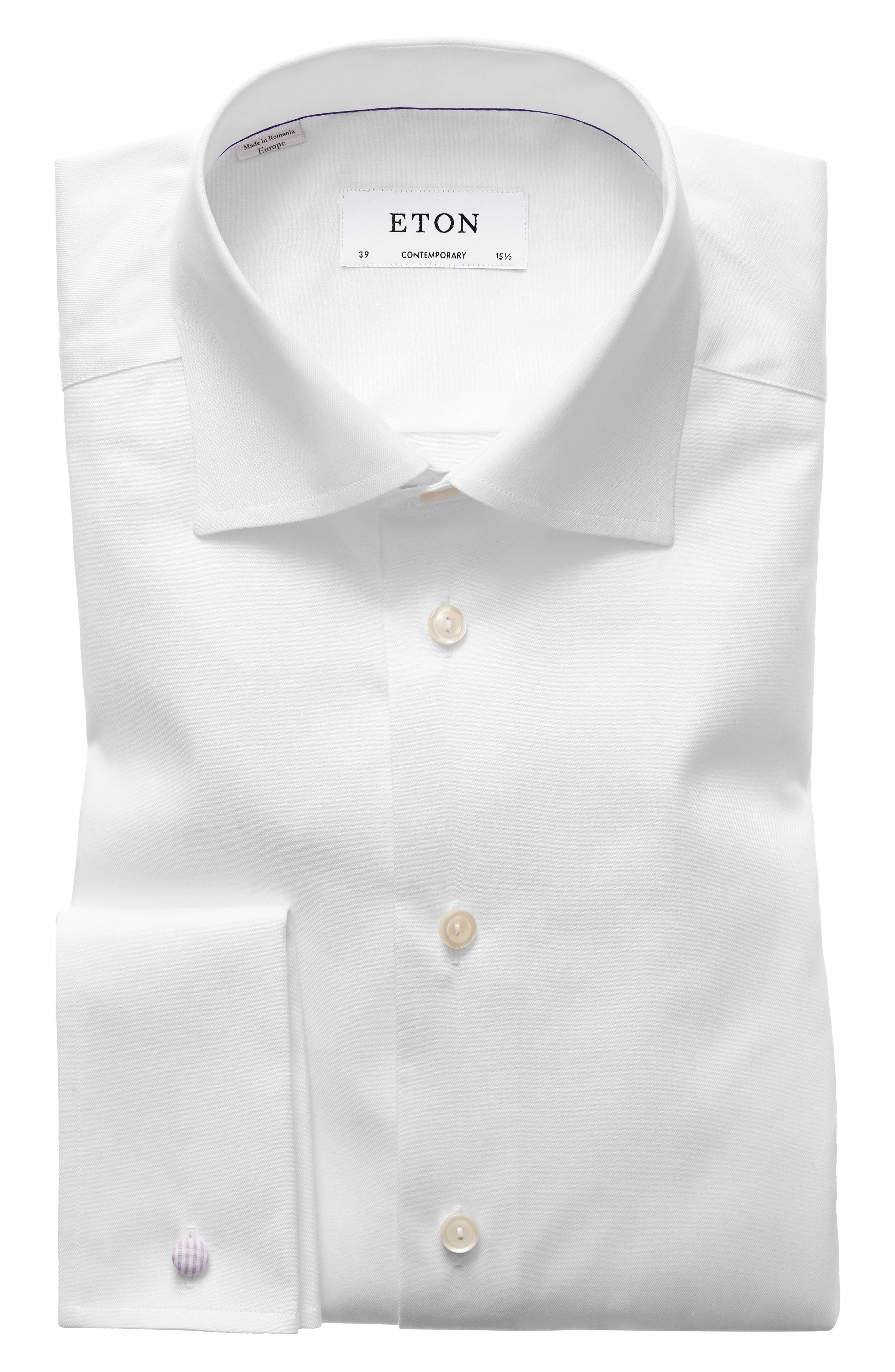 Contemporary Fit Dress Shirt,                         Main,                         color, White