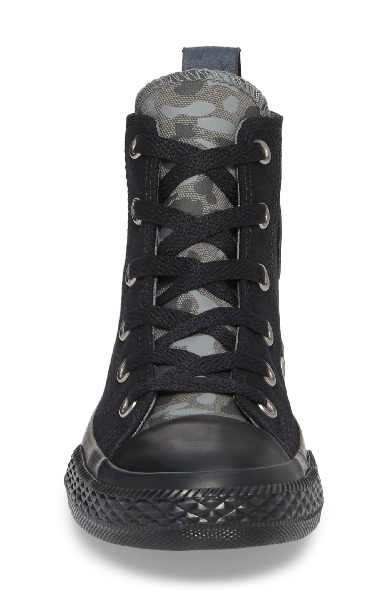 Chuck Taylor<sup>®</sup> All Star<sup>®</sup> Camo High Top Sneaker,                             Alternate thumbnail 4, color,                             Black