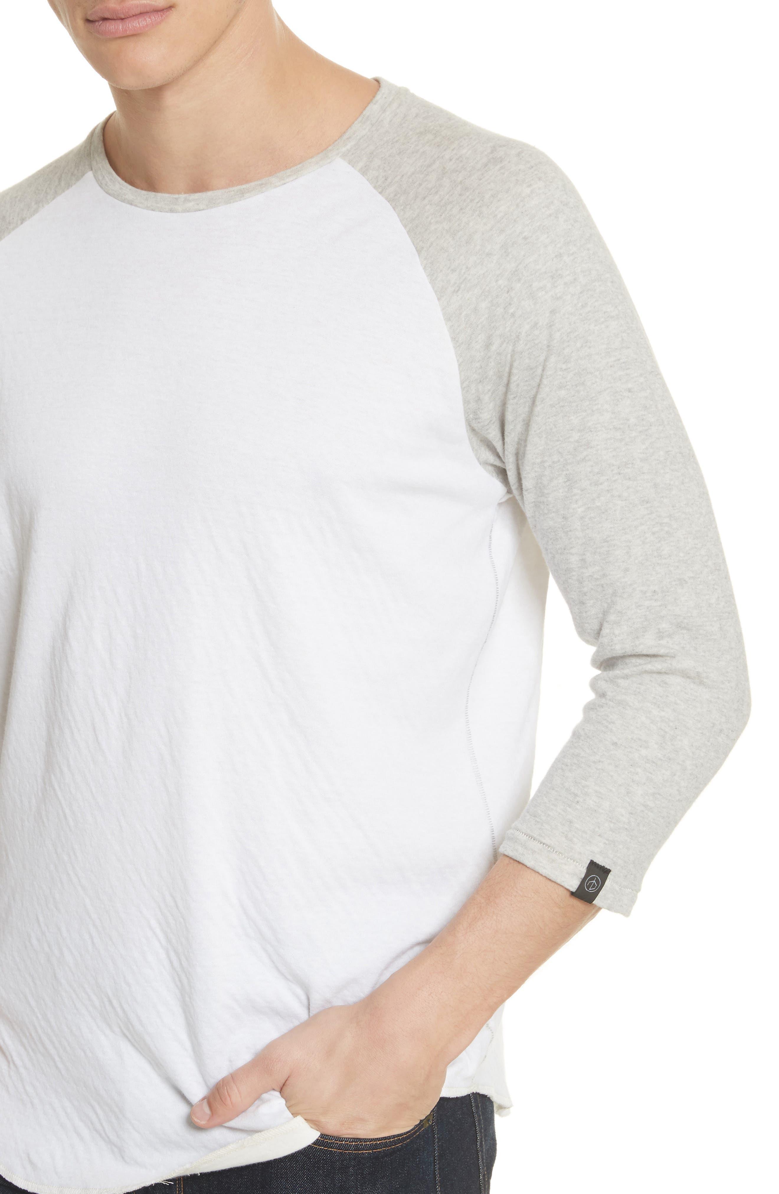 Rigby Baseball T-Shirt,                             Alternate thumbnail 4, color,                             Grey/ White