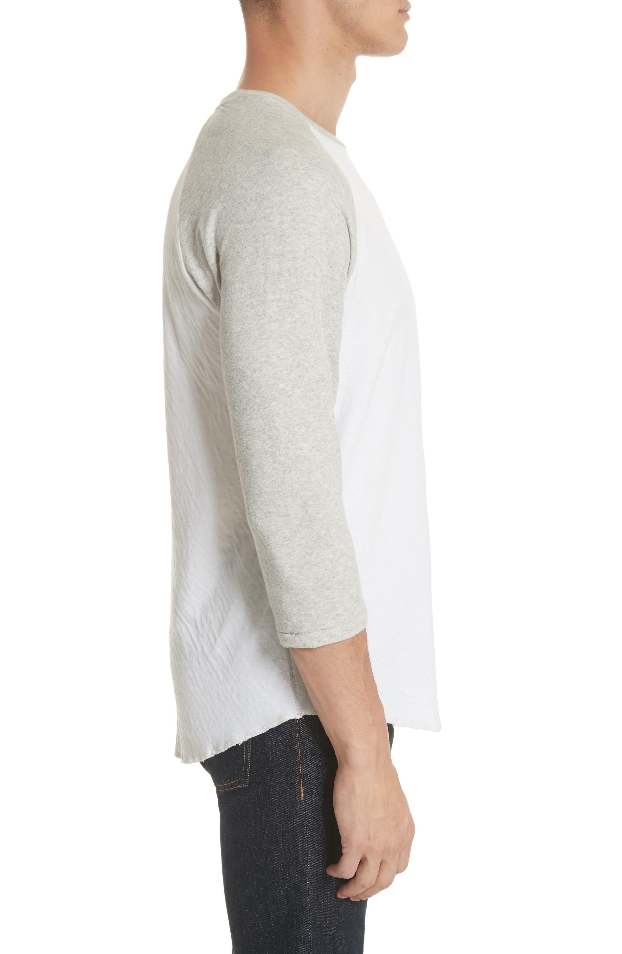 Rigby Baseball T-Shirt,                             Alternate thumbnail 3, color,                             Grey/ White