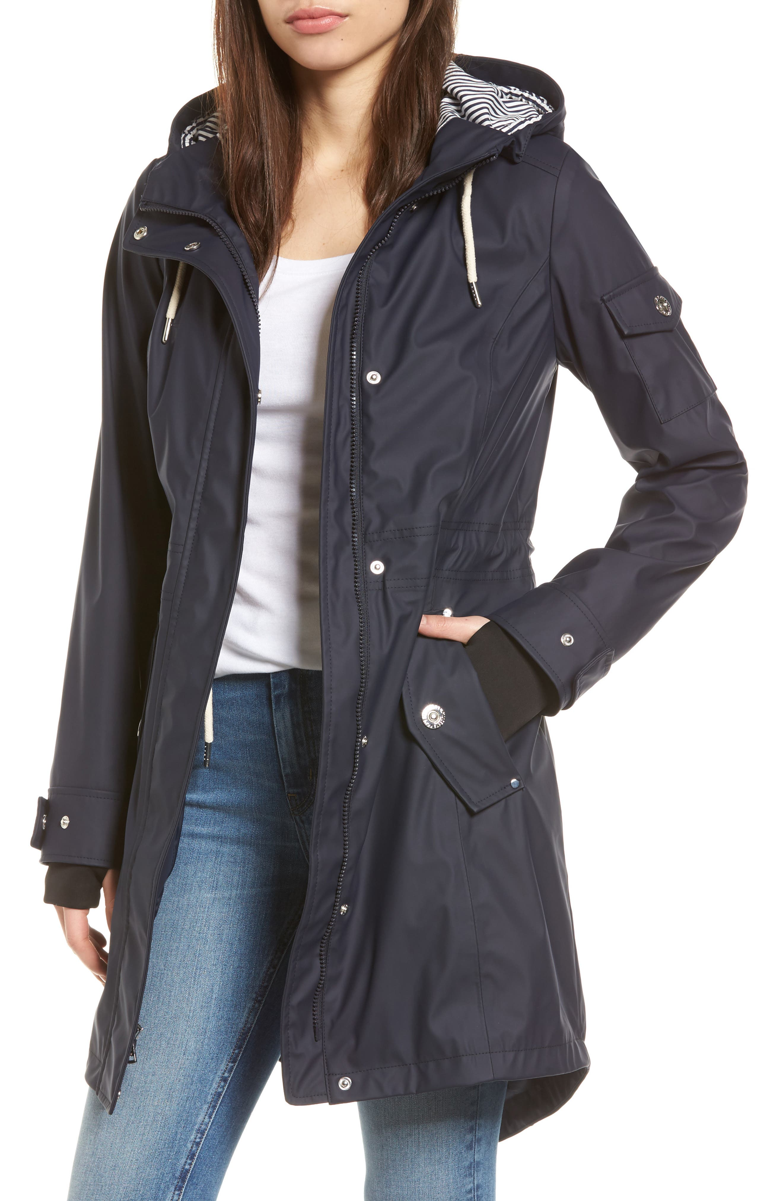 Alternate Image 1 Selected - 1 Madison Contrast Cuff Fishtail Anorak