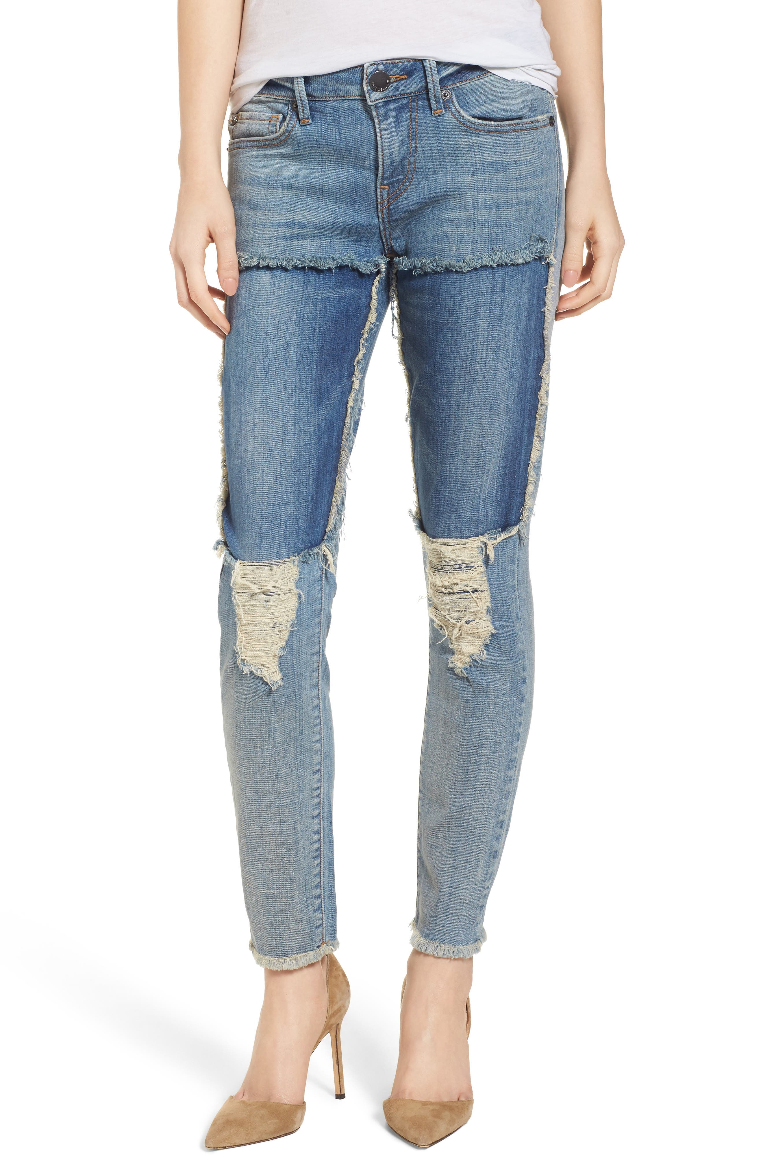 True Religion Brand Jeans Halle Super Skinny Jeans (Double Digit Blue)