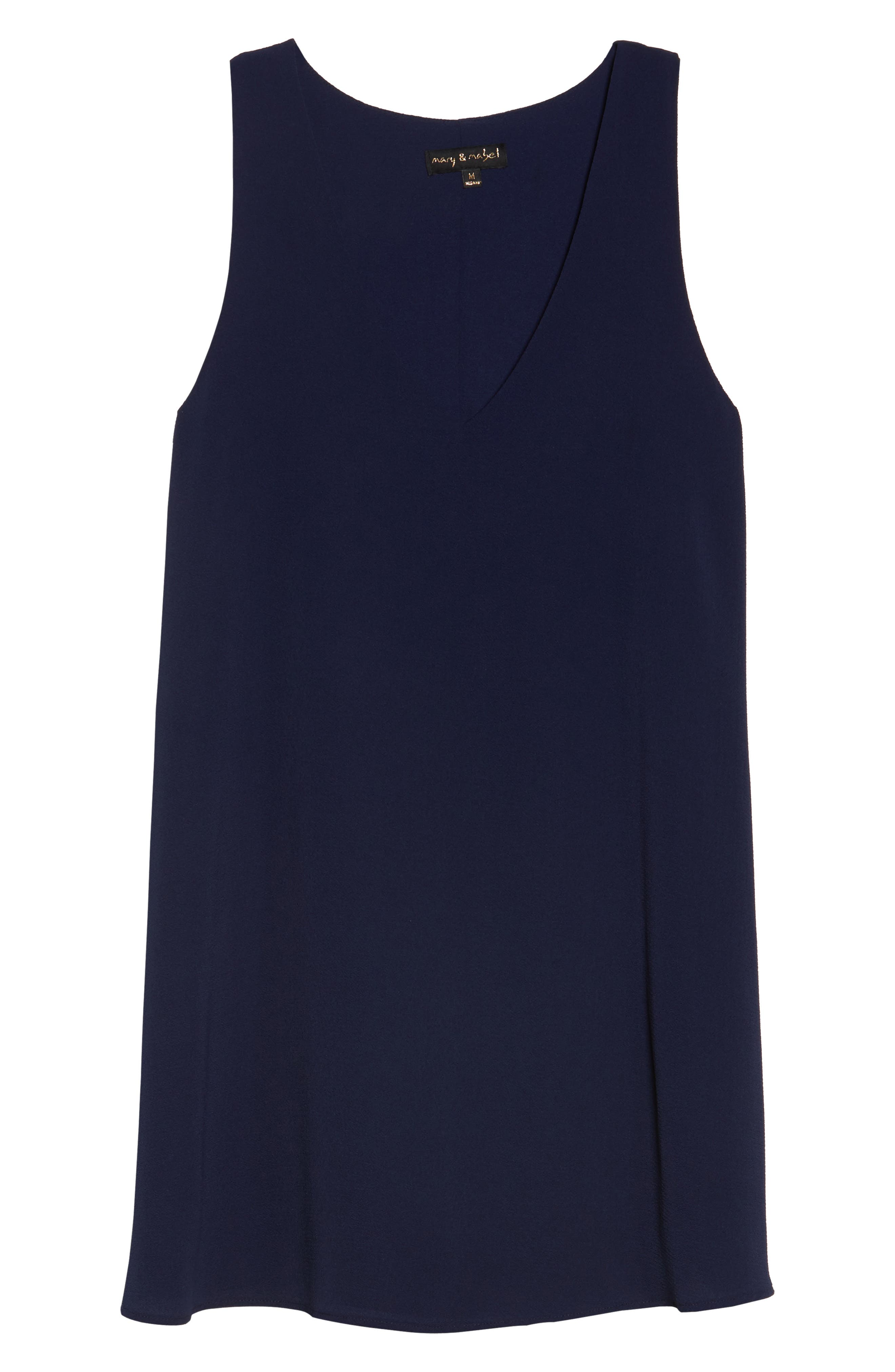 Shift Dress,                             Alternate thumbnail 6, color,                             Navy