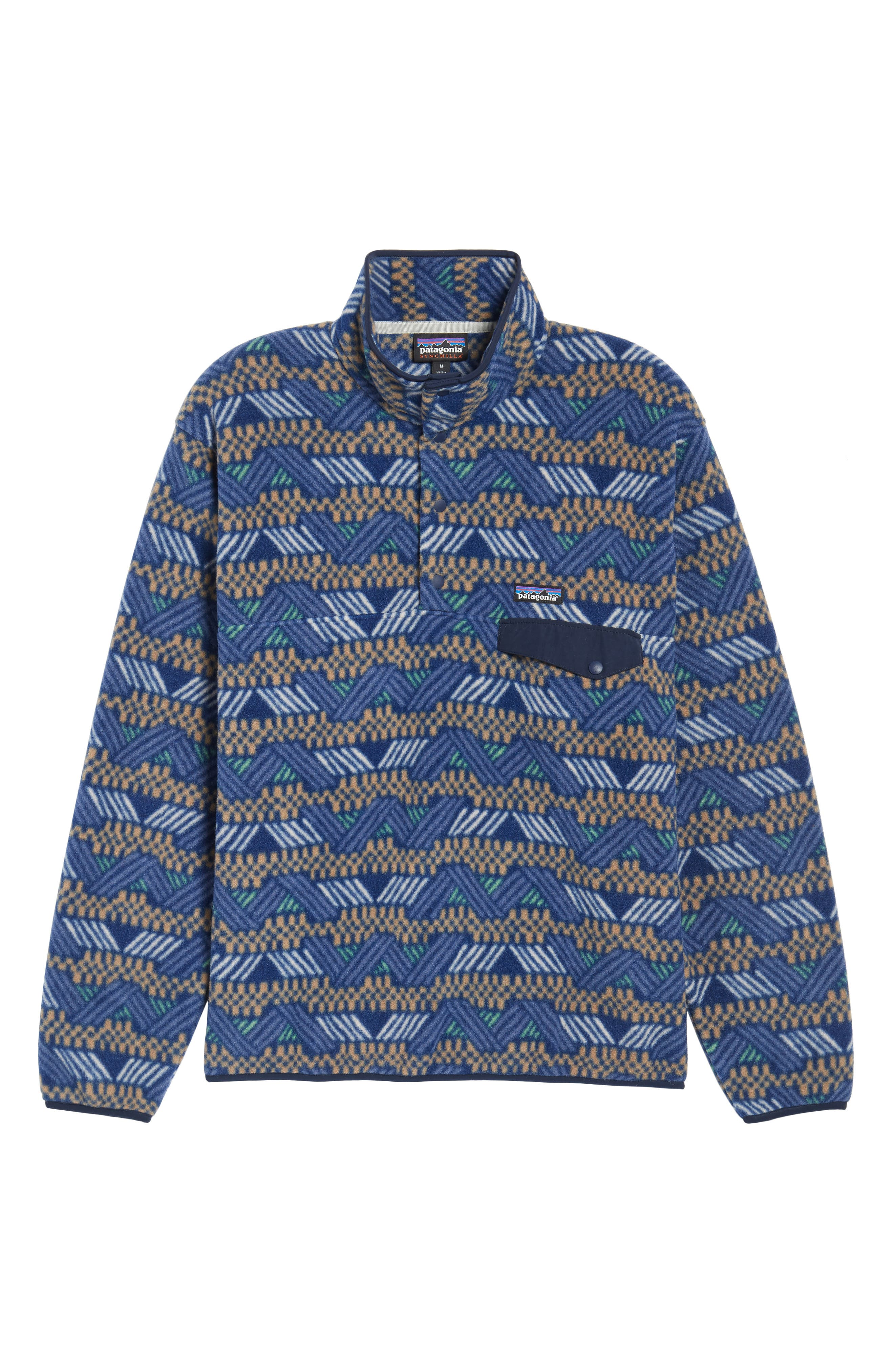 Synchilla<sup>®</sup> Snap-T<sup>®</sup> Fleece Pullover,                             Alternate thumbnail 3, color,                             Classic Navy