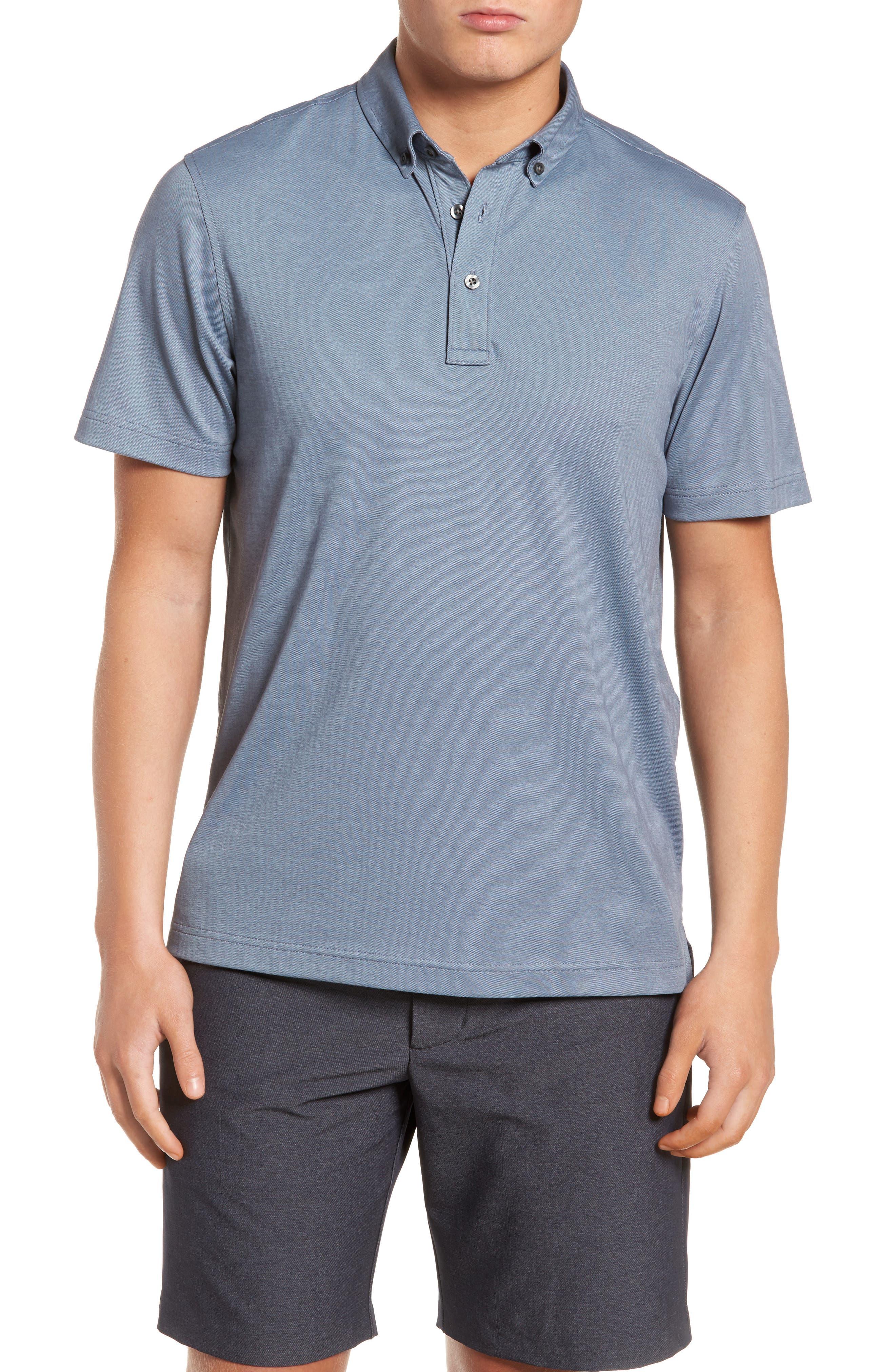 Nordstrom Men's Shop Pima Cotton Blend Piqué Polo