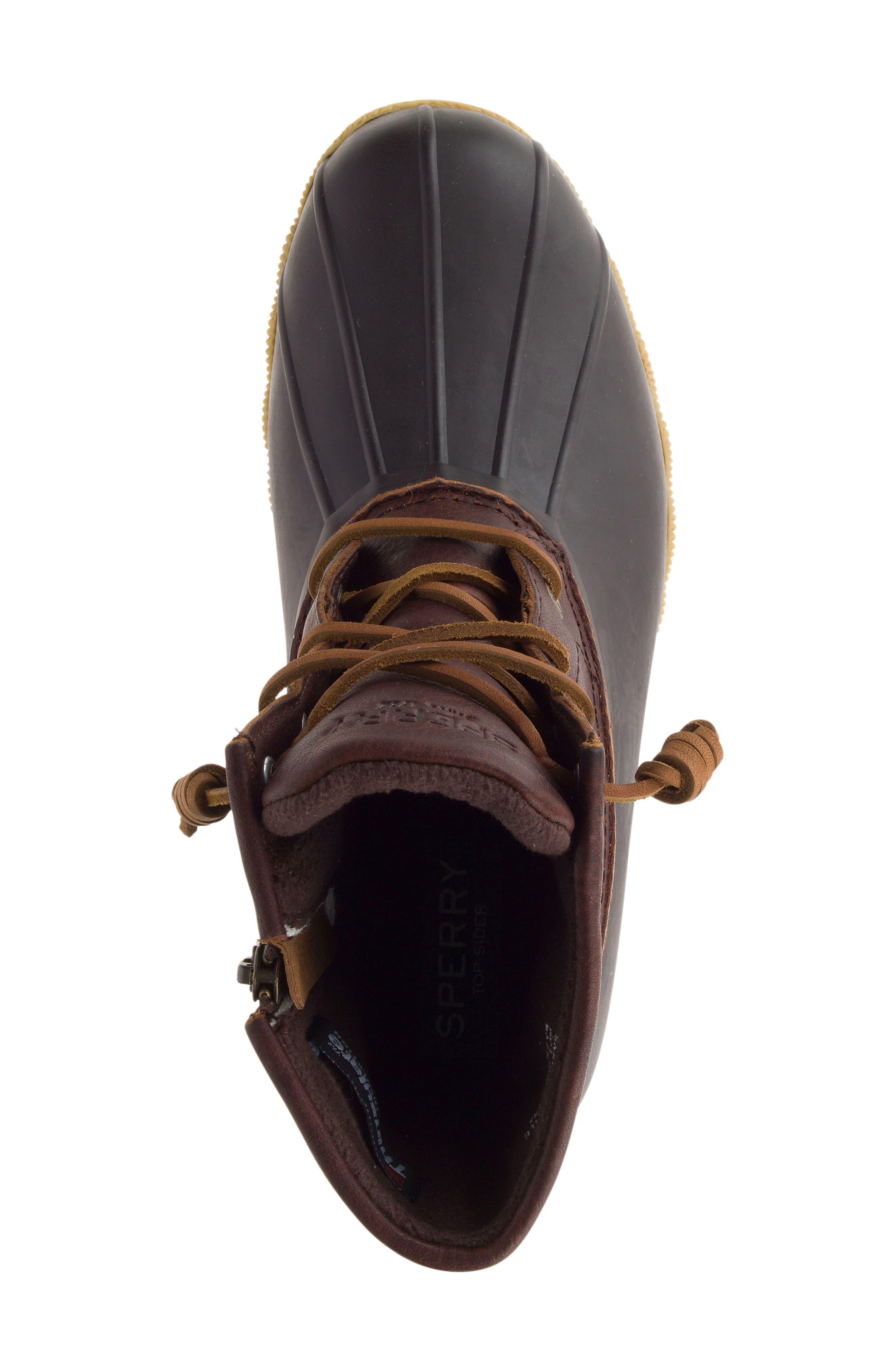 Saltwater Thinsulate<sup>™</sup> Waterproof Rain Boot,                             Alternate thumbnail 4, color,                             Tan/ Brown