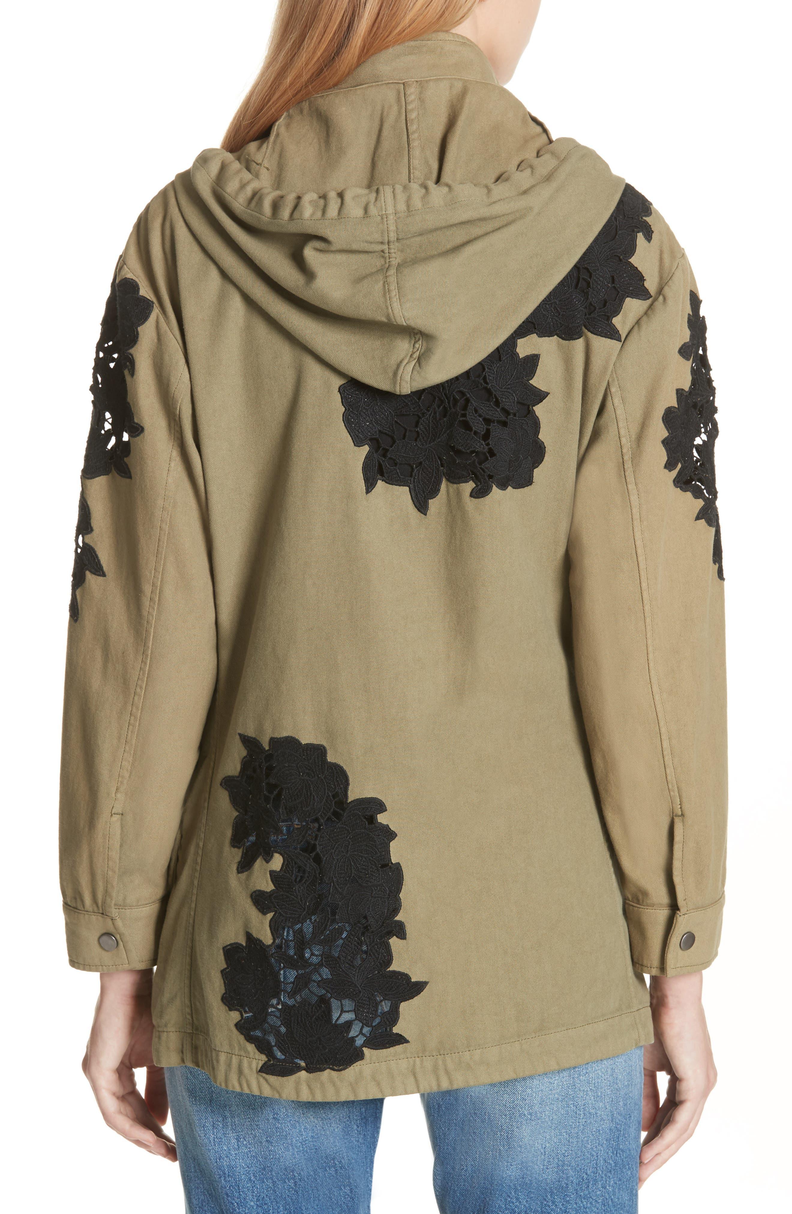 Meta Embroidered Utility Jacket,                             Alternate thumbnail 2, color,                             Olive/ Black