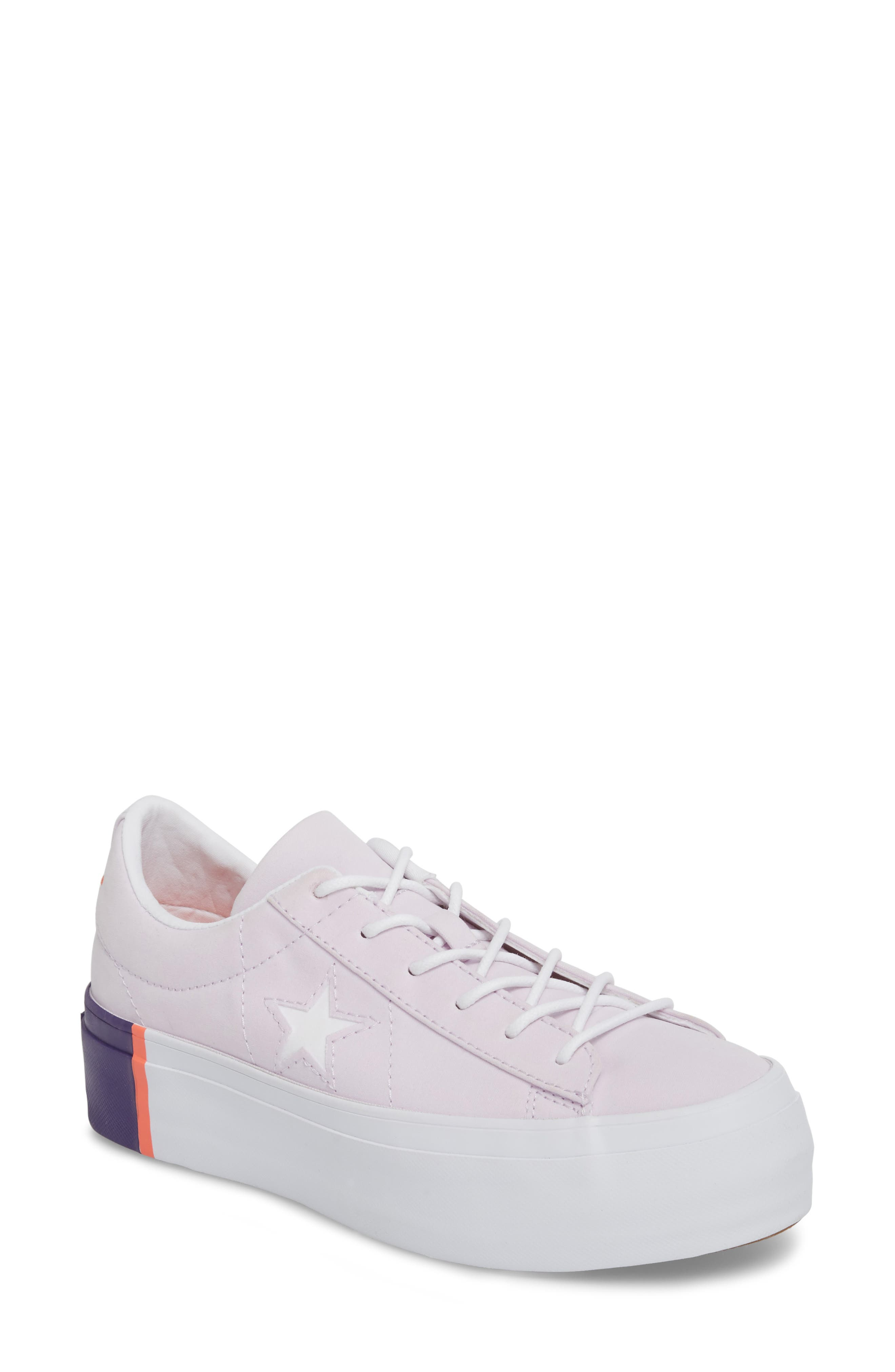 Chuck Taylor<sup>®</sup> All Star<sup>®</sup> One Star Platform Sneaker,                             Main thumbnail 1, color,                             Barely Grape