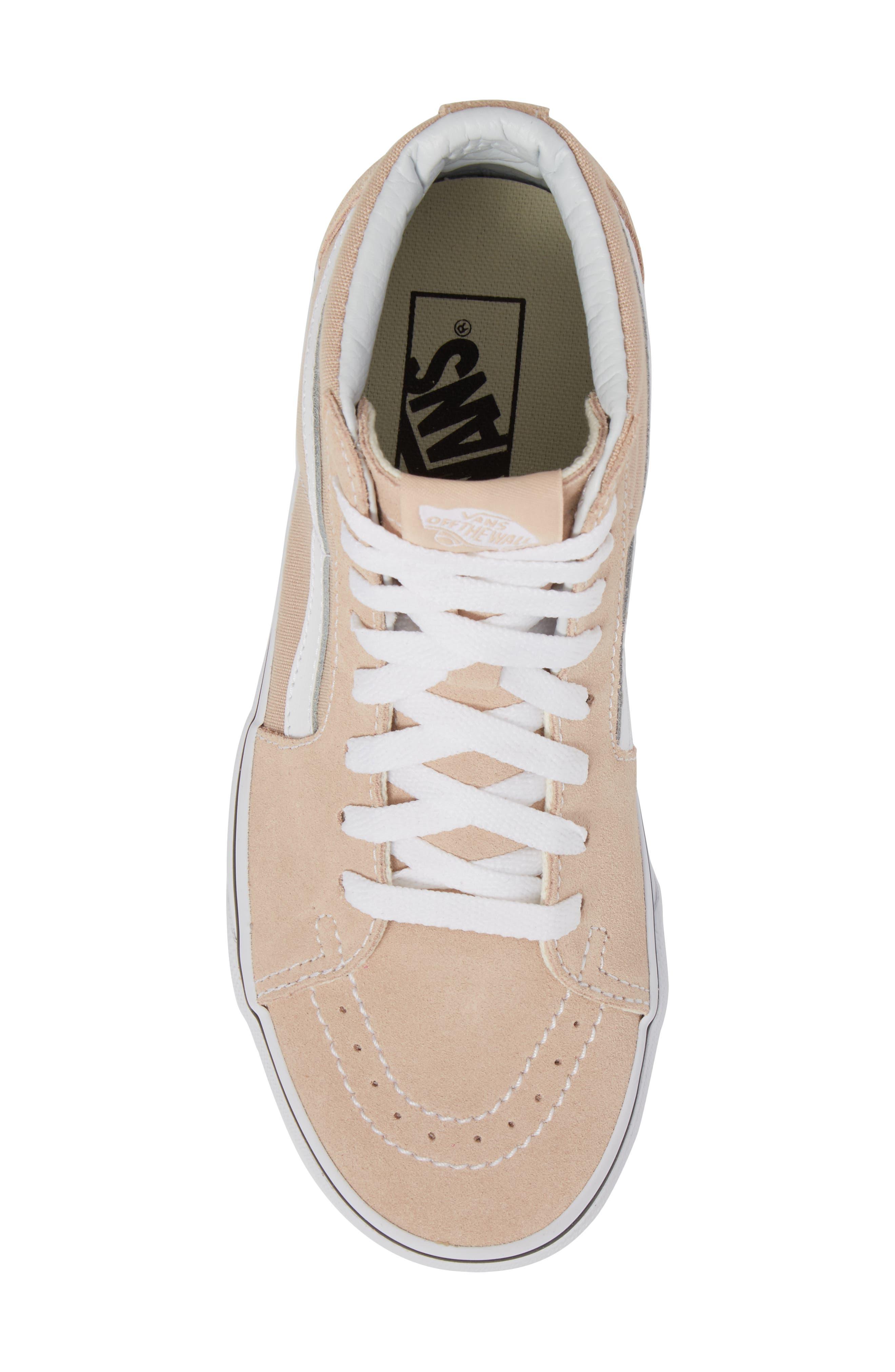 'Sk8-Hi Slim' Sneaker,                             Alternate thumbnail 3, color,                             Frappe/ True White