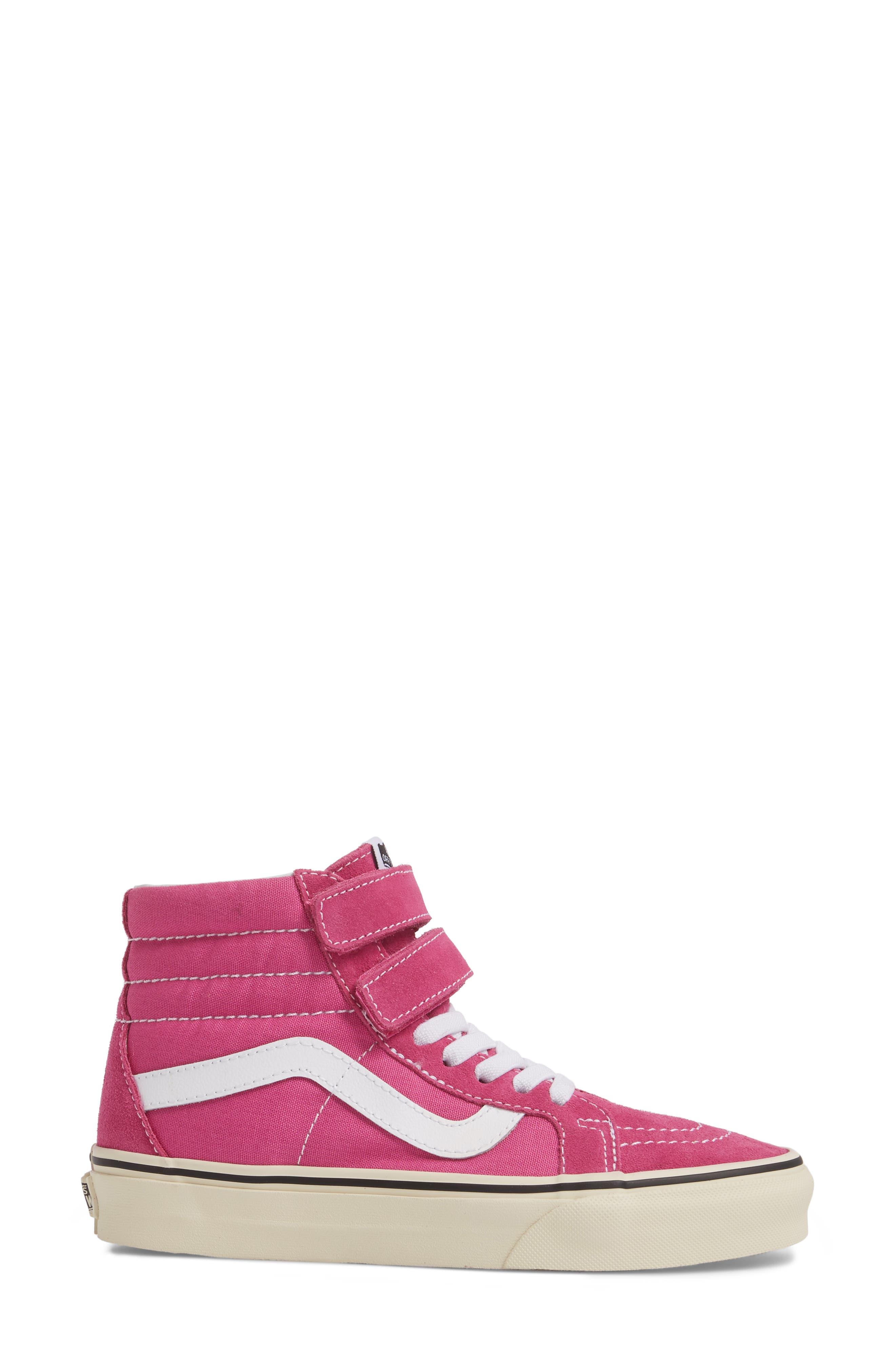 Sk8-Hi Reissue Sneaker,                             Alternate thumbnail 3, color,                             Raspberry Rose/ Turtledove