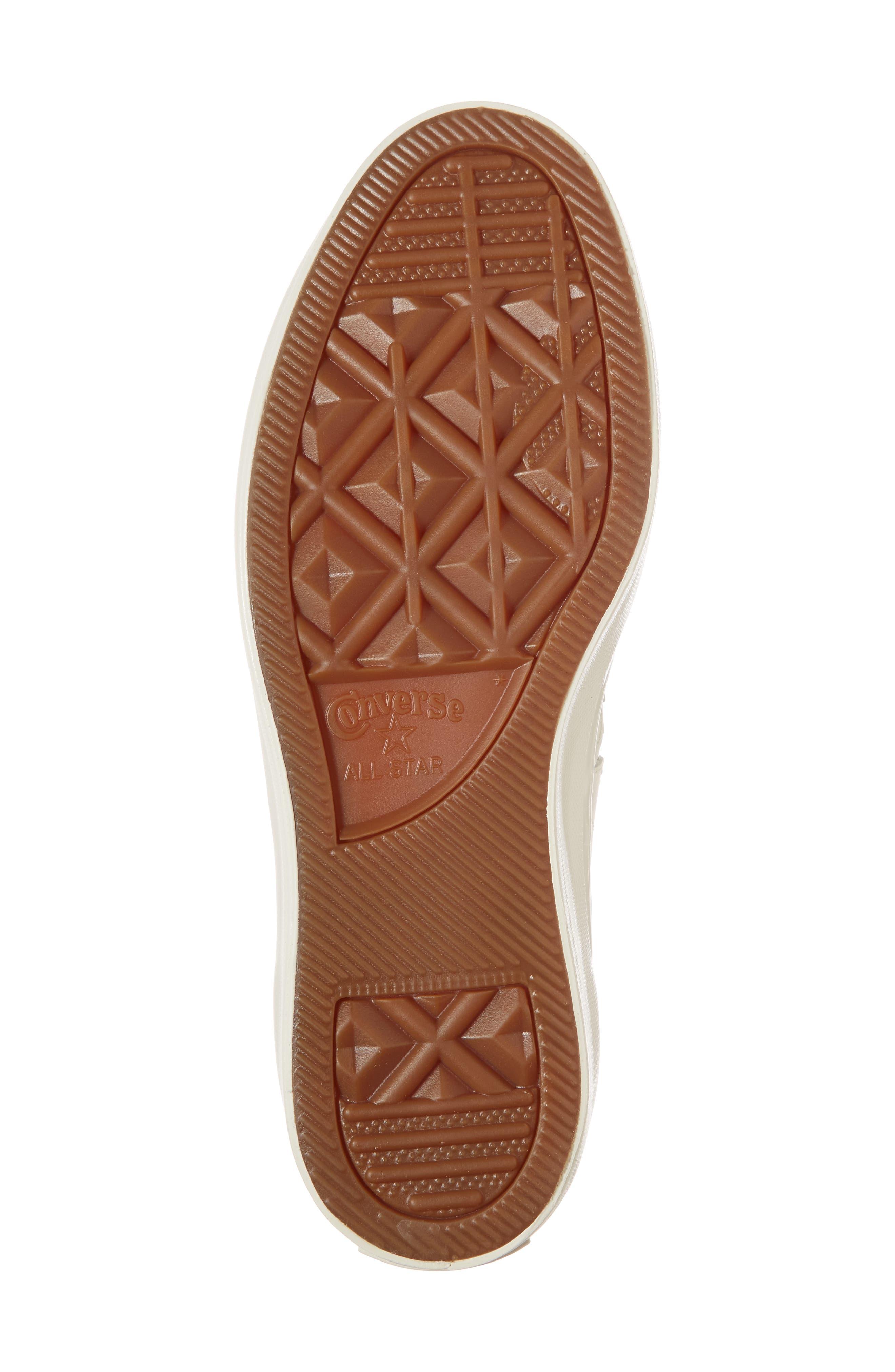 Chuck Taylor<sup>®</sup> All Star<sup>®</sup> One Star Platform Sneaker,                             Alternate thumbnail 6, color,                             Egret/ Egret