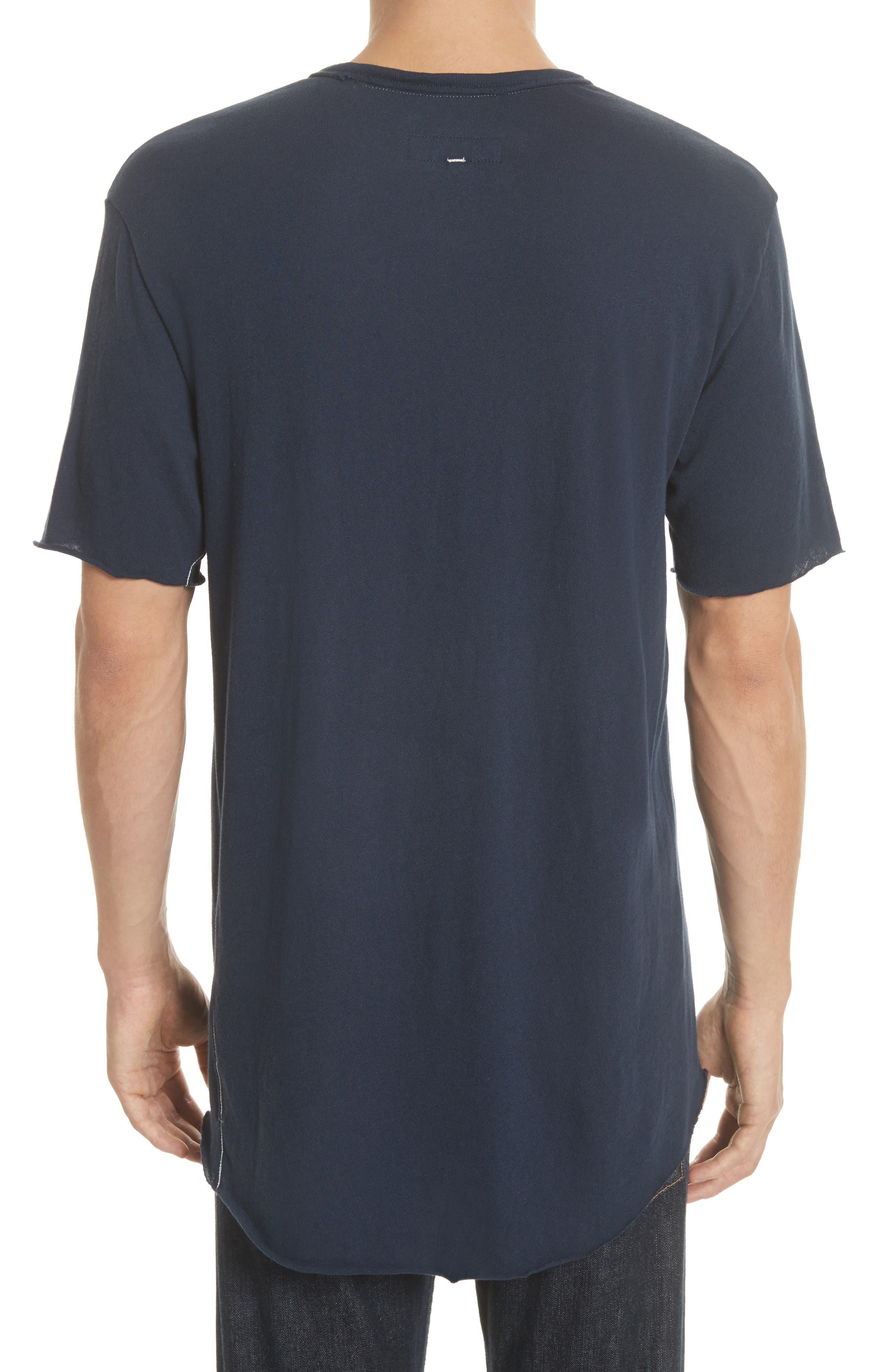 Hartley Crewneck Cotton & Linen T-Shirt,                             Alternate thumbnail 2, color,                             Navy