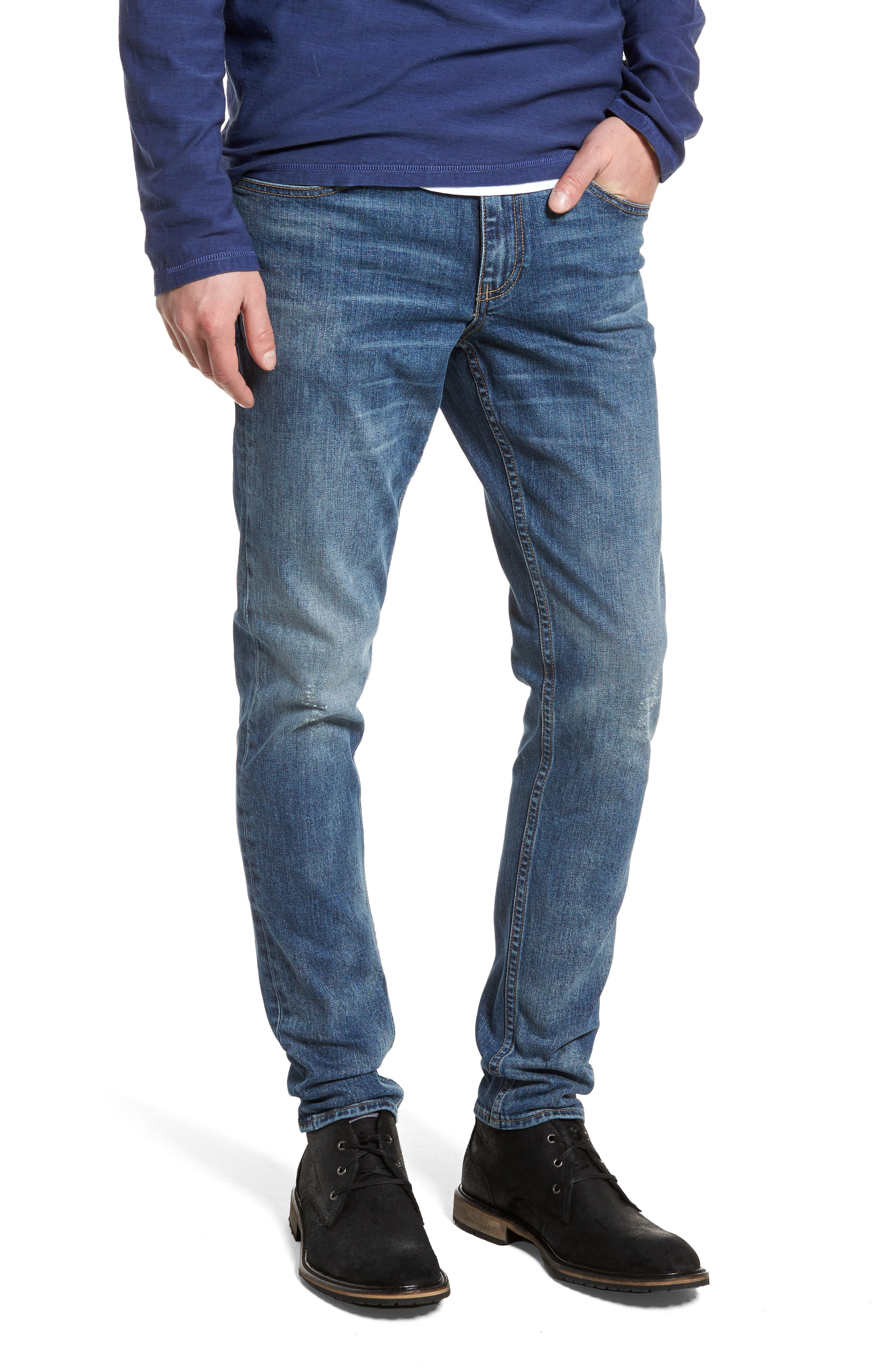 Treasure & Bond Skinny Fit Jeans (Blue Cement Wash)